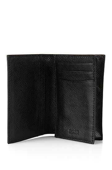 BOSS Signature系列 palmellato皮革小款折叠钱包,  001_黑色