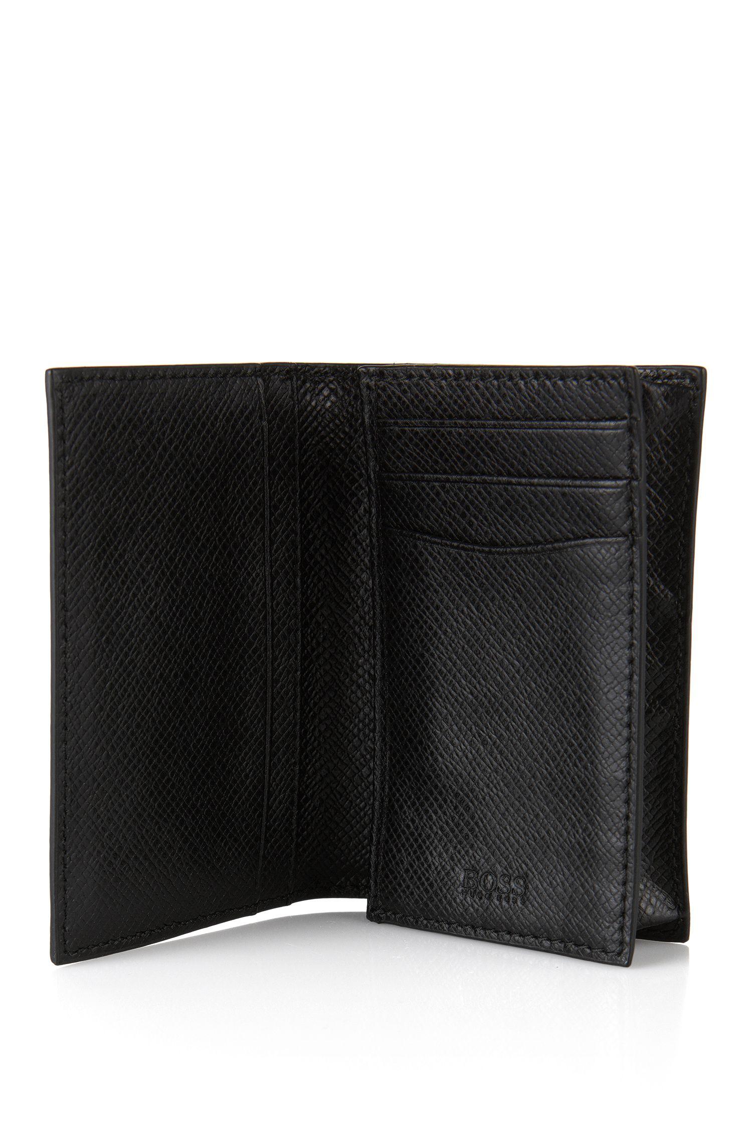 Klappbares Kartenetui aus Leder: 'Siganture_B card'