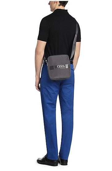 Reporter Bag aus Nylon mit Kontrastbesätzen: ´Pixel_NS zip`, Dunkelgrau