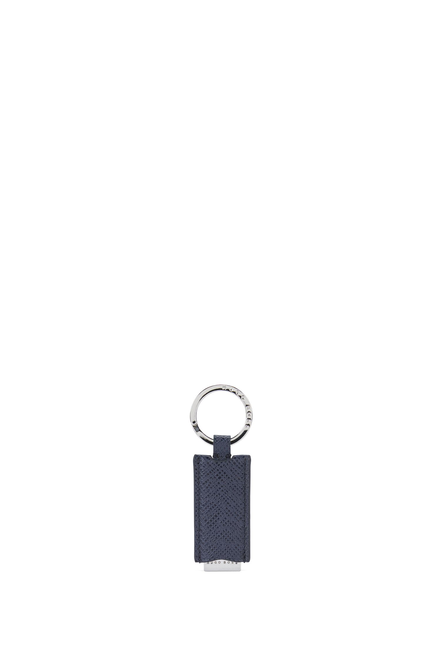 Key ring with leather trim: 'Signature_Key fob'