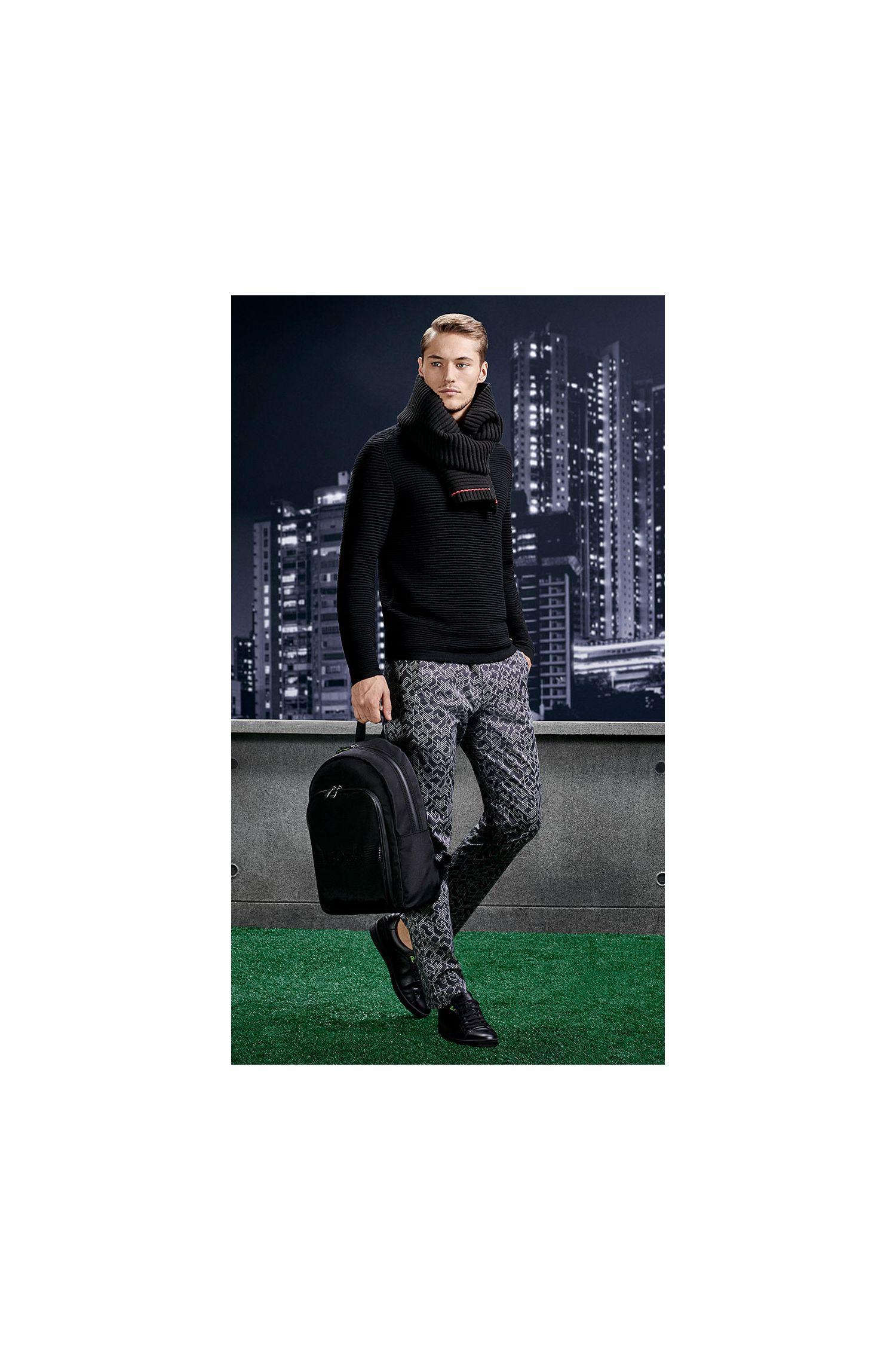 Rucksack aus Material-Mix mit Besätzen in Leder-Optik: ´Pixel_Backpack`