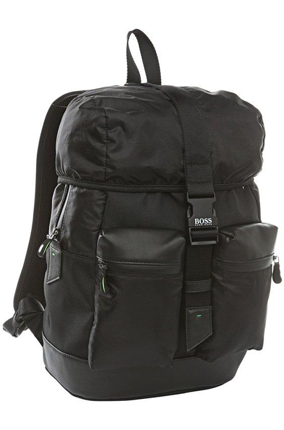 Sac à dos en matières mélangées: «Techno_Backpack», Noir