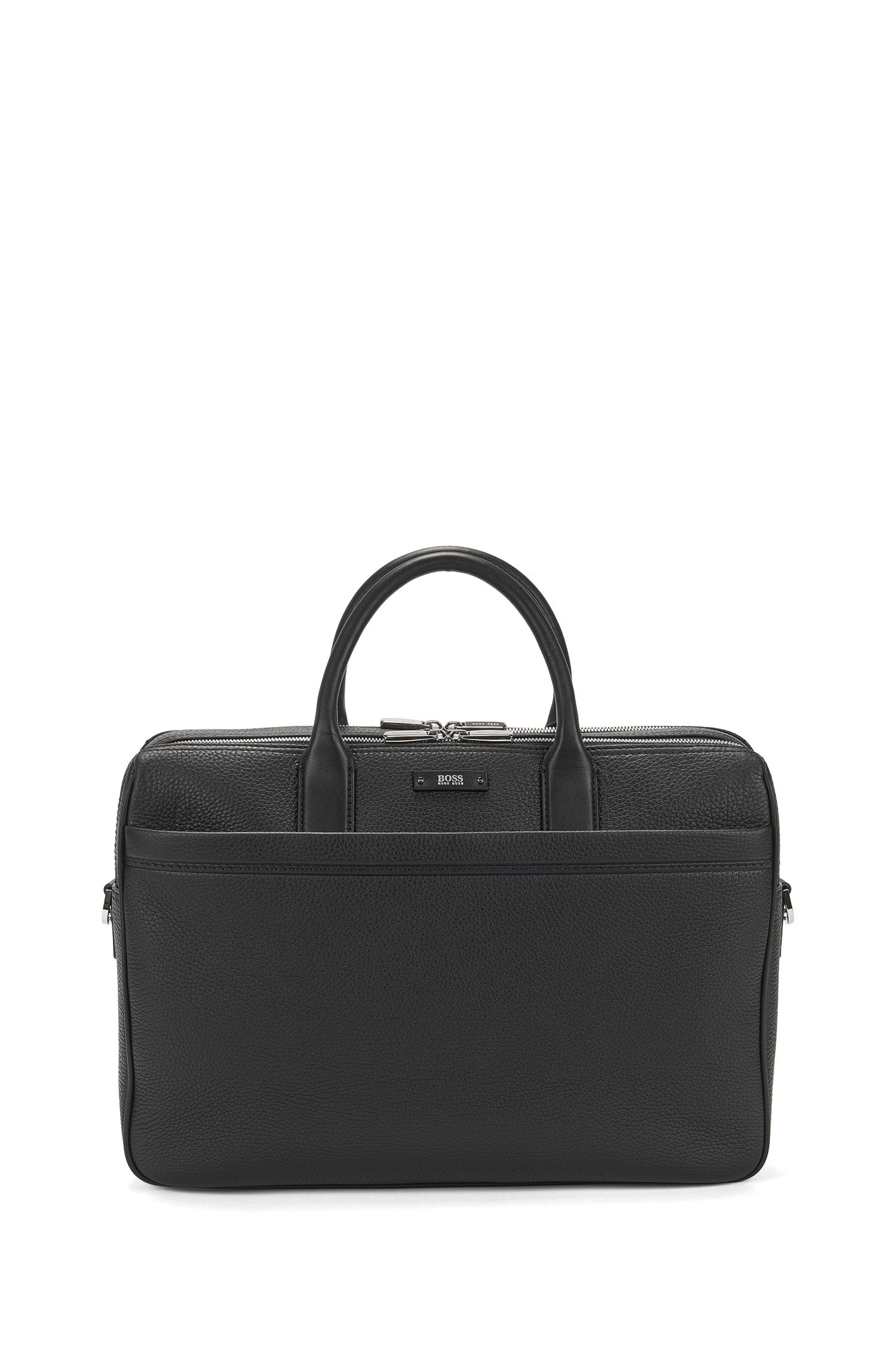 Laptop bag in grained leather: 'Traveller_D doc'