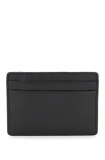 天然粒面皮革小款卡包,  001_黑色