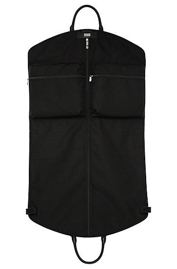 Kleidersack mit Leder-Details: 'Signature L_Garment', Schwarz
