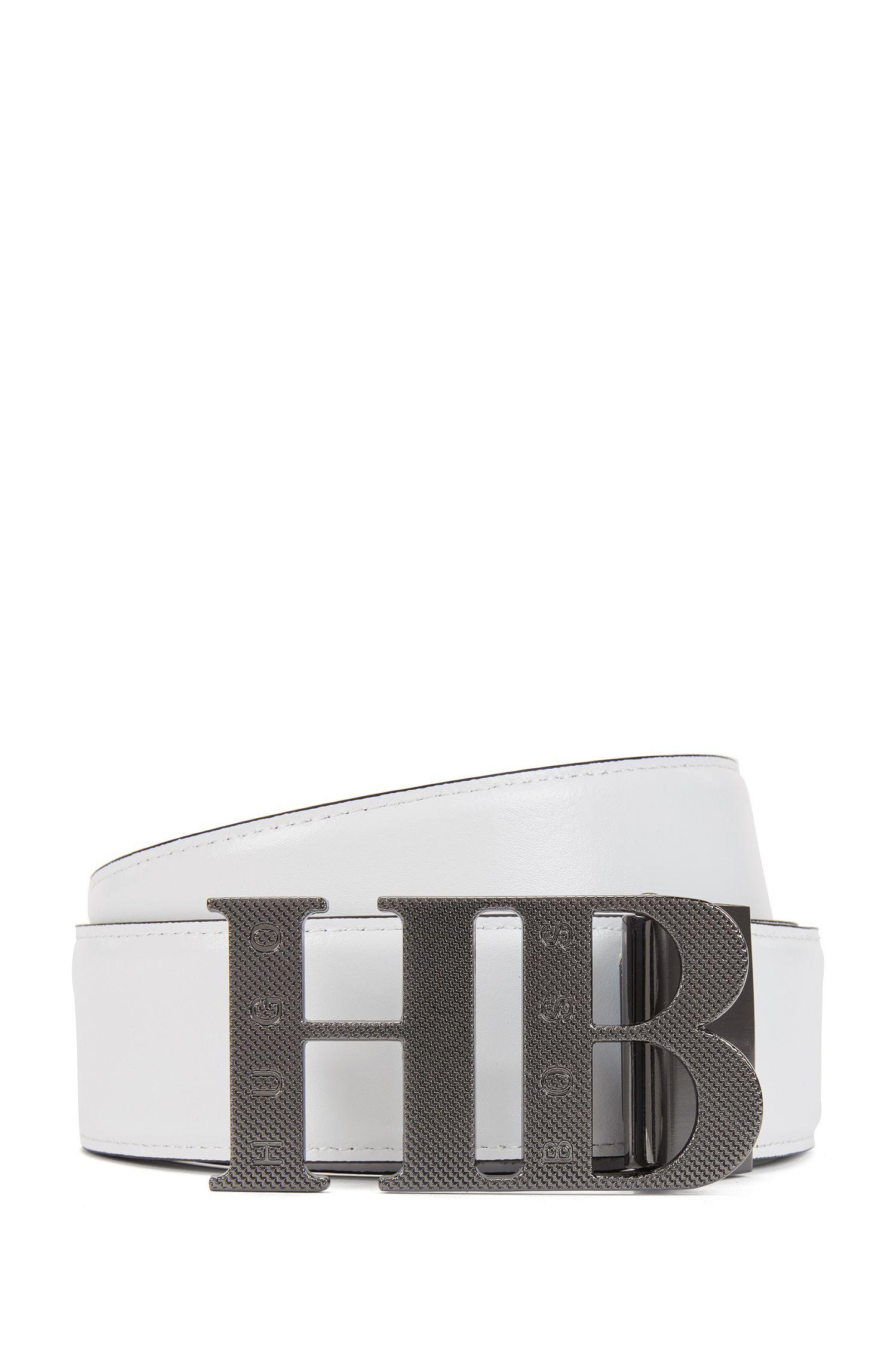 Reversible leather belt: 'Balwinno'