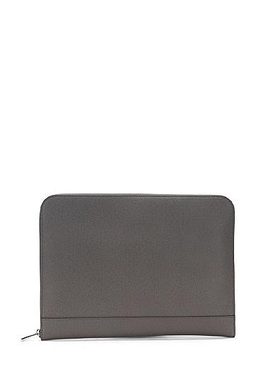 真皮平板电脑保护套:'Signature Portfolio',  025_Dark Grey