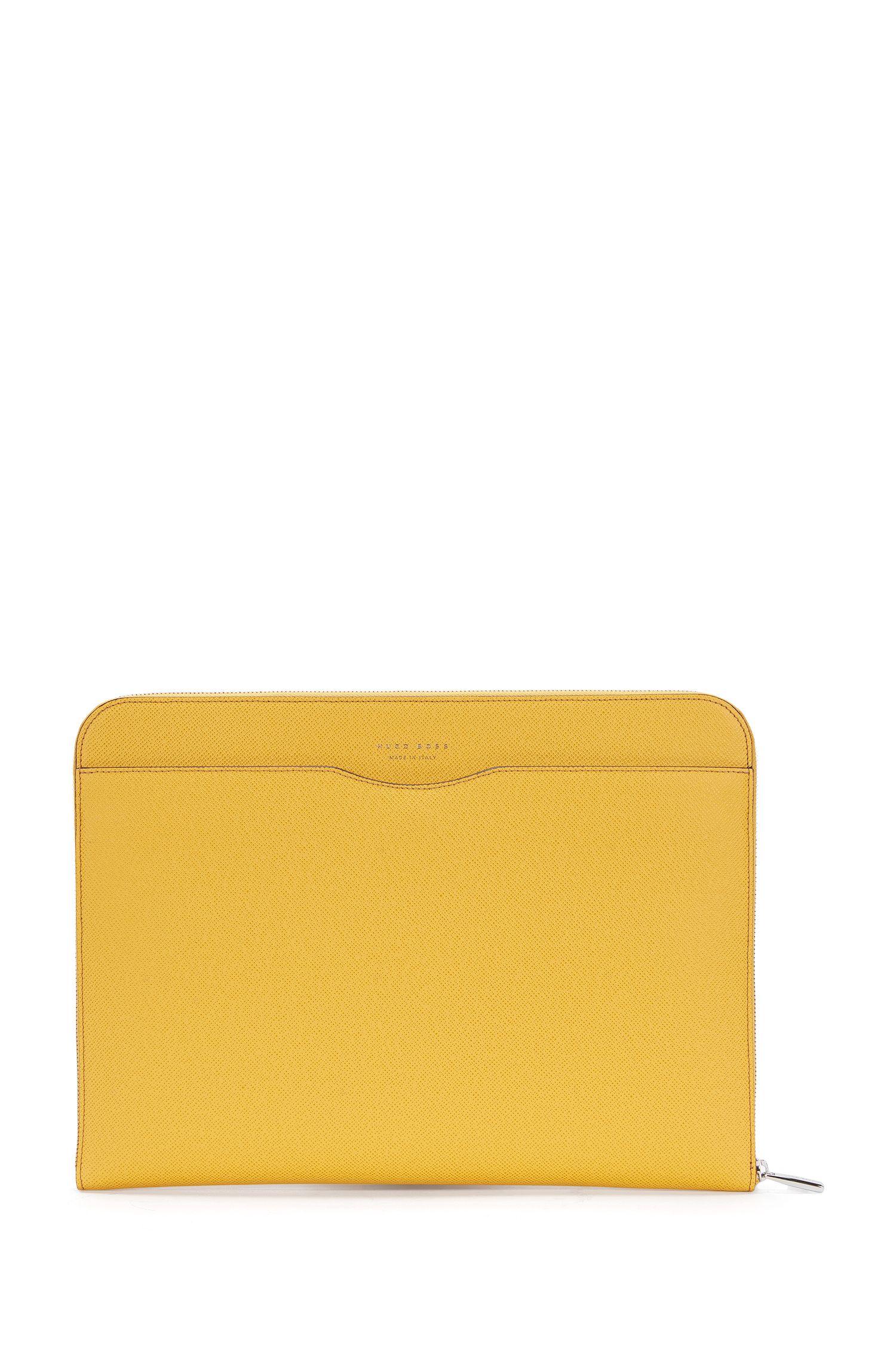 Porte-document BOSS de la collection Signature en cuir palmellato