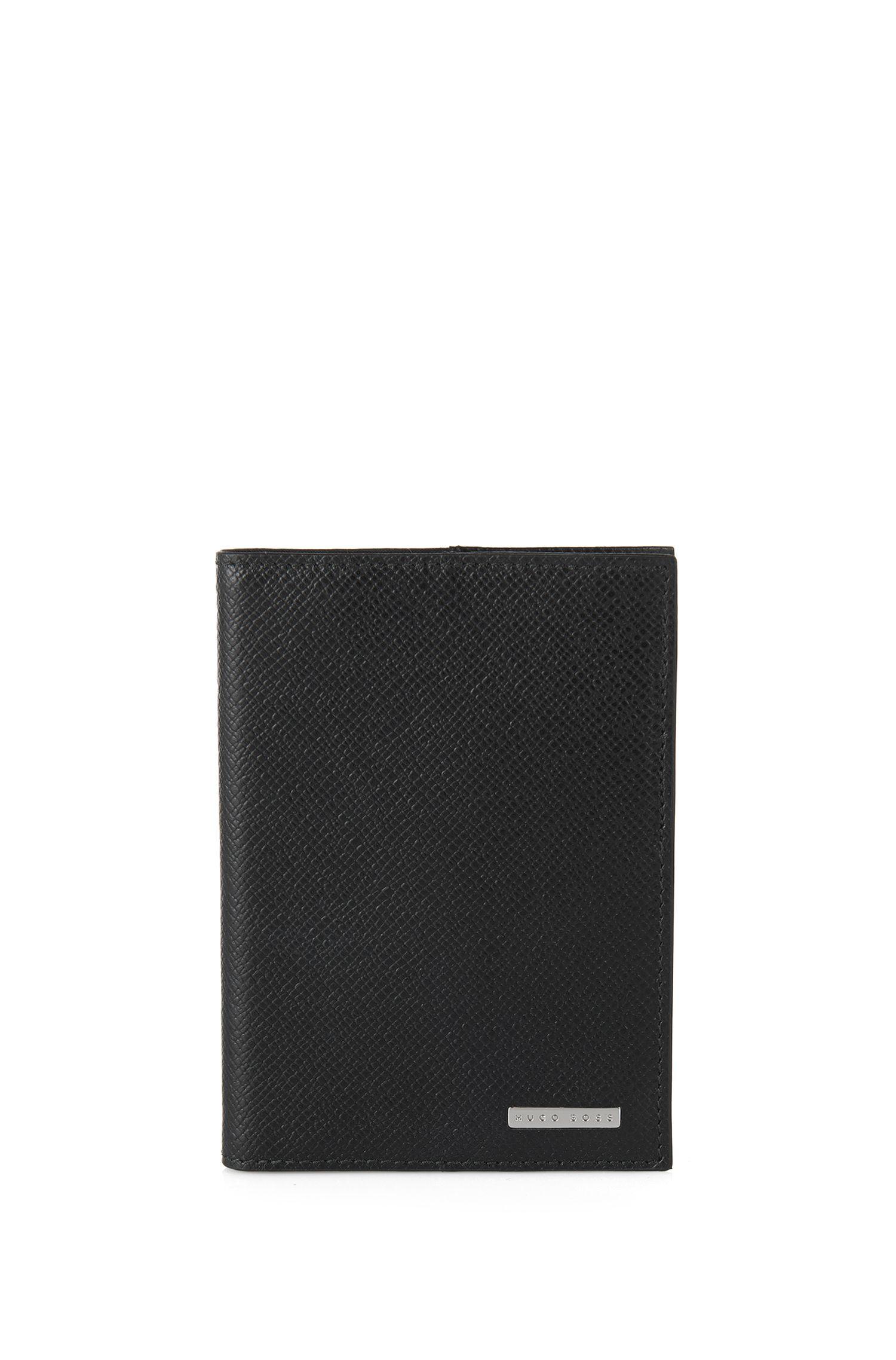 BOSS Signature Collection passport holder in palmellato leather