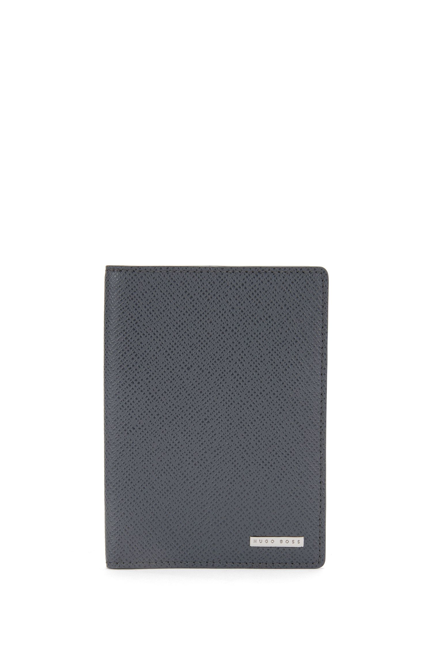 Passport holder in textured leather: 'Signature_Passport'