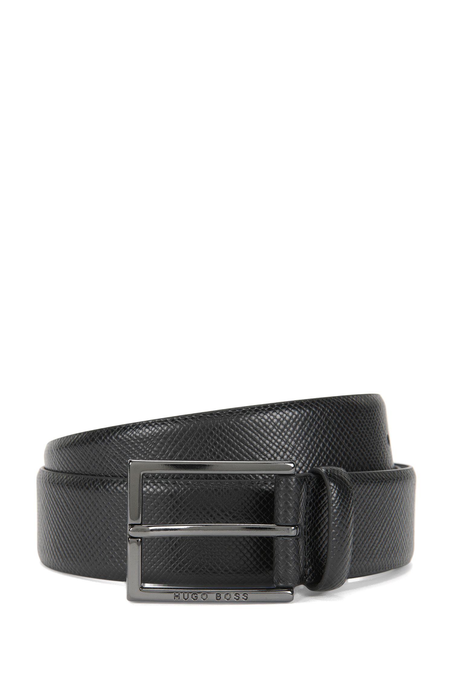 Cintura in pelle con fibbia quadrata: 'Camilio'