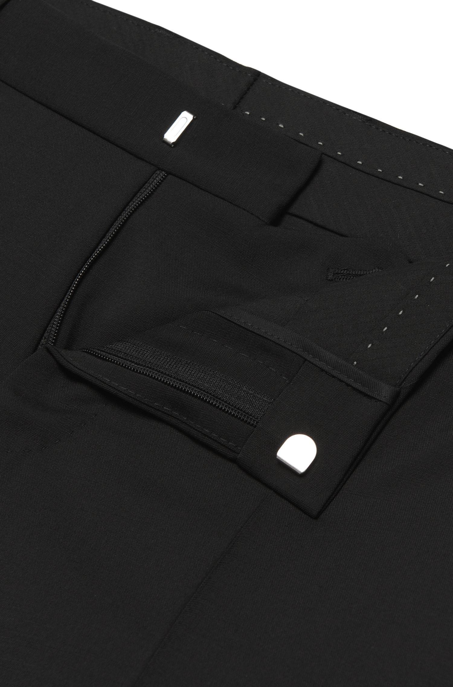 Slim-Fit Tailored Hose aus Schurwoll-Mix mit Mohairwolle: 'T-Gleeve1'