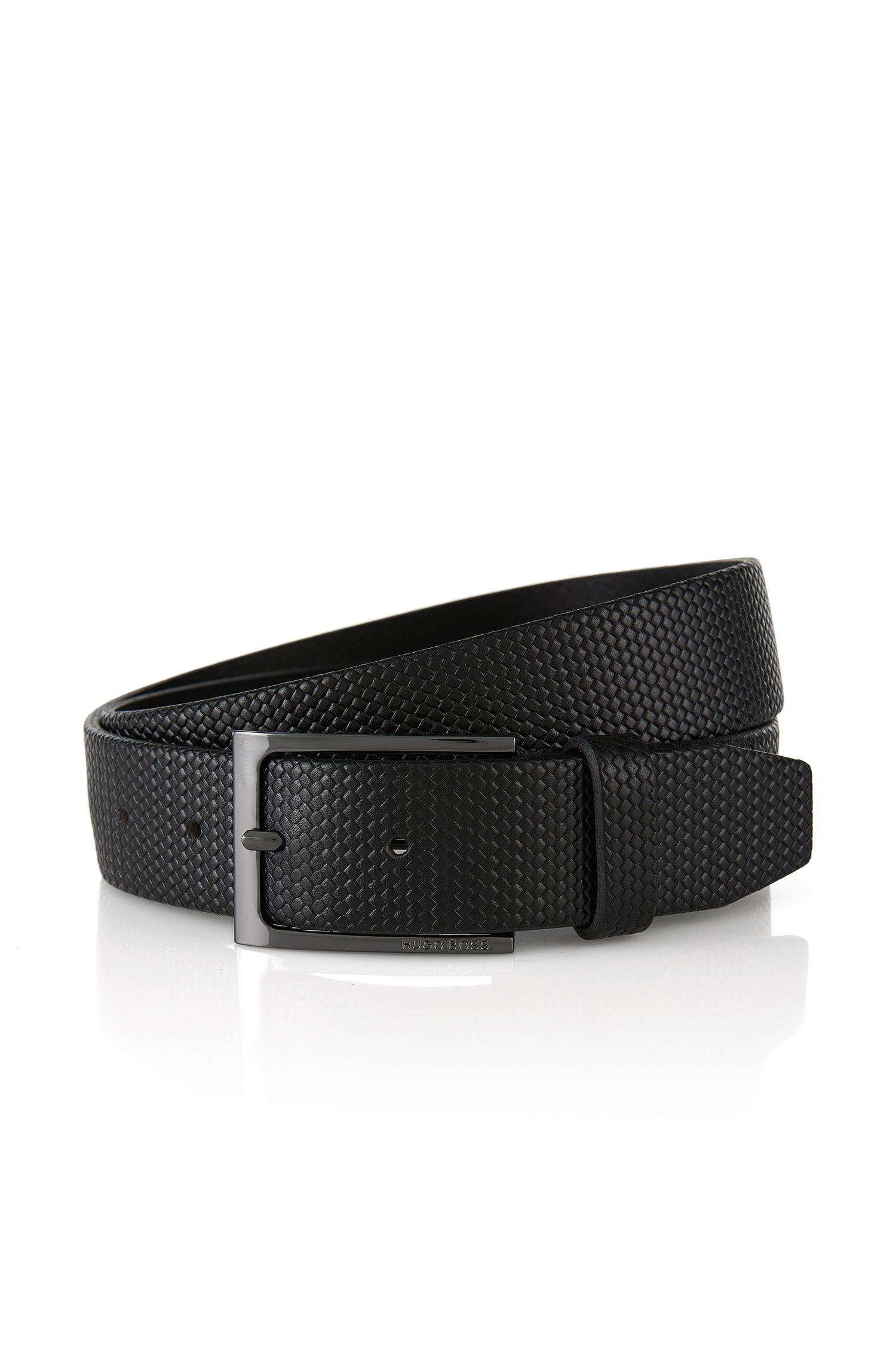 Braided leather belt: 'Carmai'