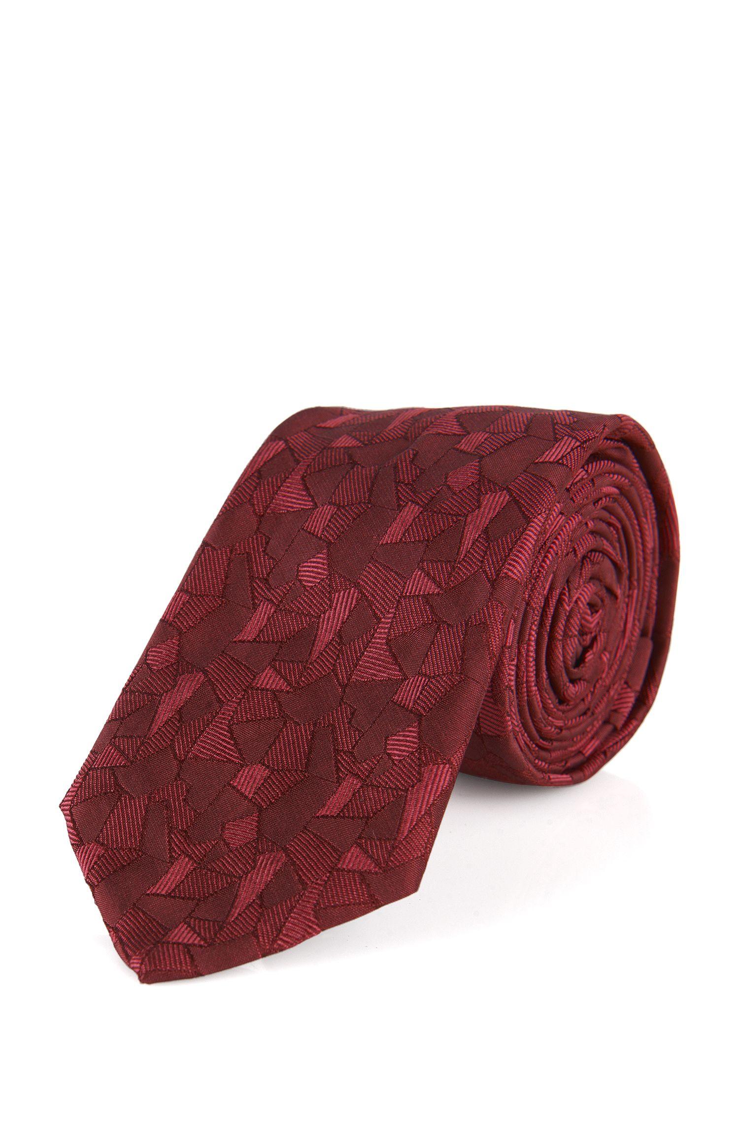 Zijden stropdas met abstract dessin: 'Tie 6 cm'