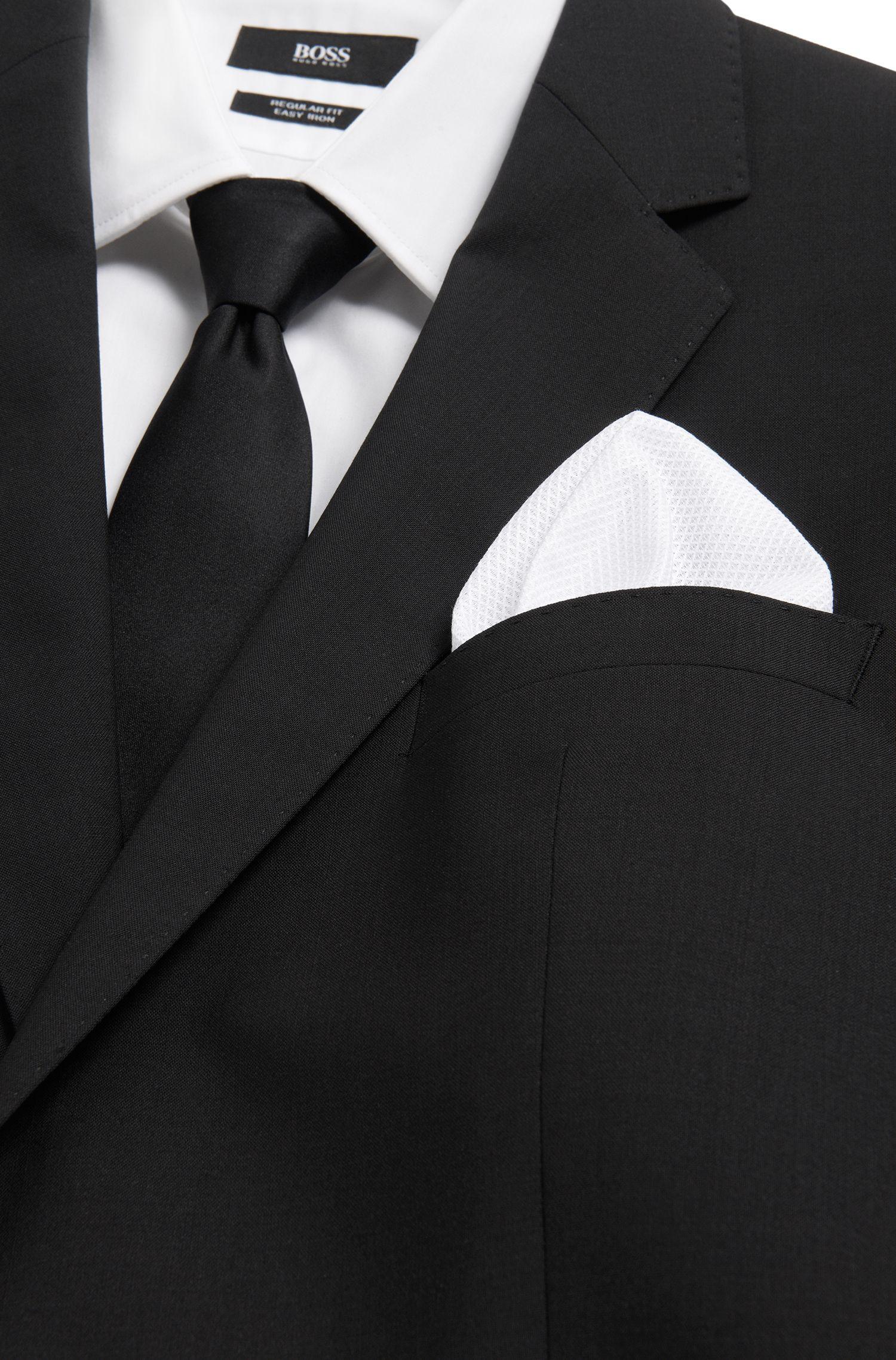 Unifarbenes Einstecktuch aus strukturierter Baumwolle: 'Pocket sq. cm 33x33'