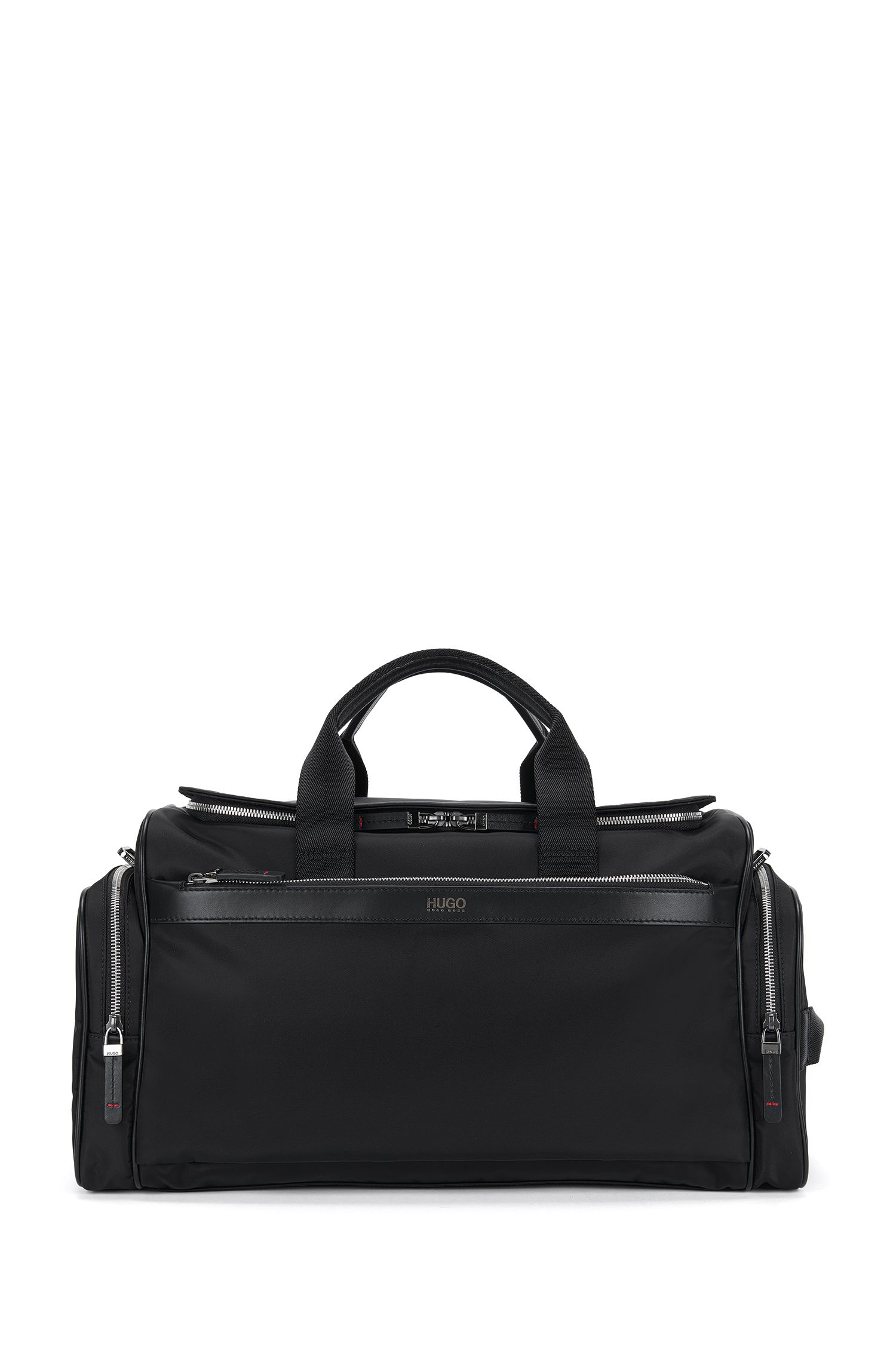 Weekender bag with leather detailing: 'Digital L_Holdall'