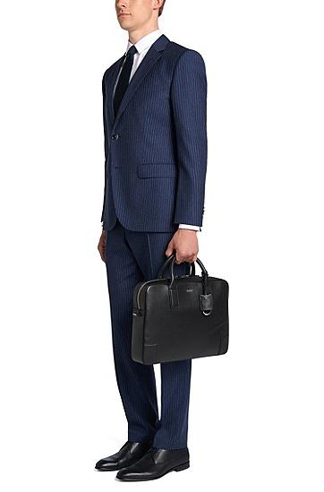 Workbag aus Leder: 'Digital_S doc', Schwarz