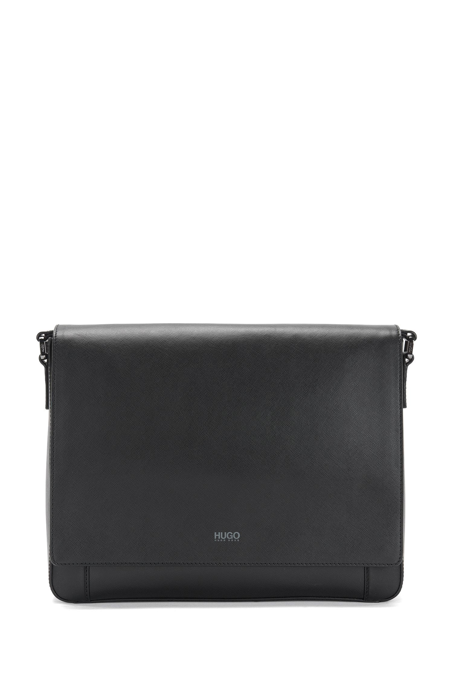 Sac coursier en cuir : « Digital_Mess flap »