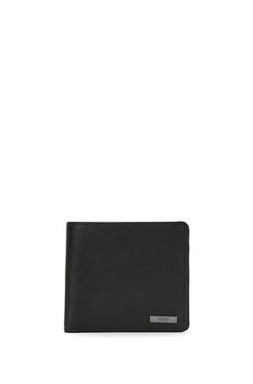 Geldbörse aus Leder: 'Digital_4 cc coin', Schwarz
