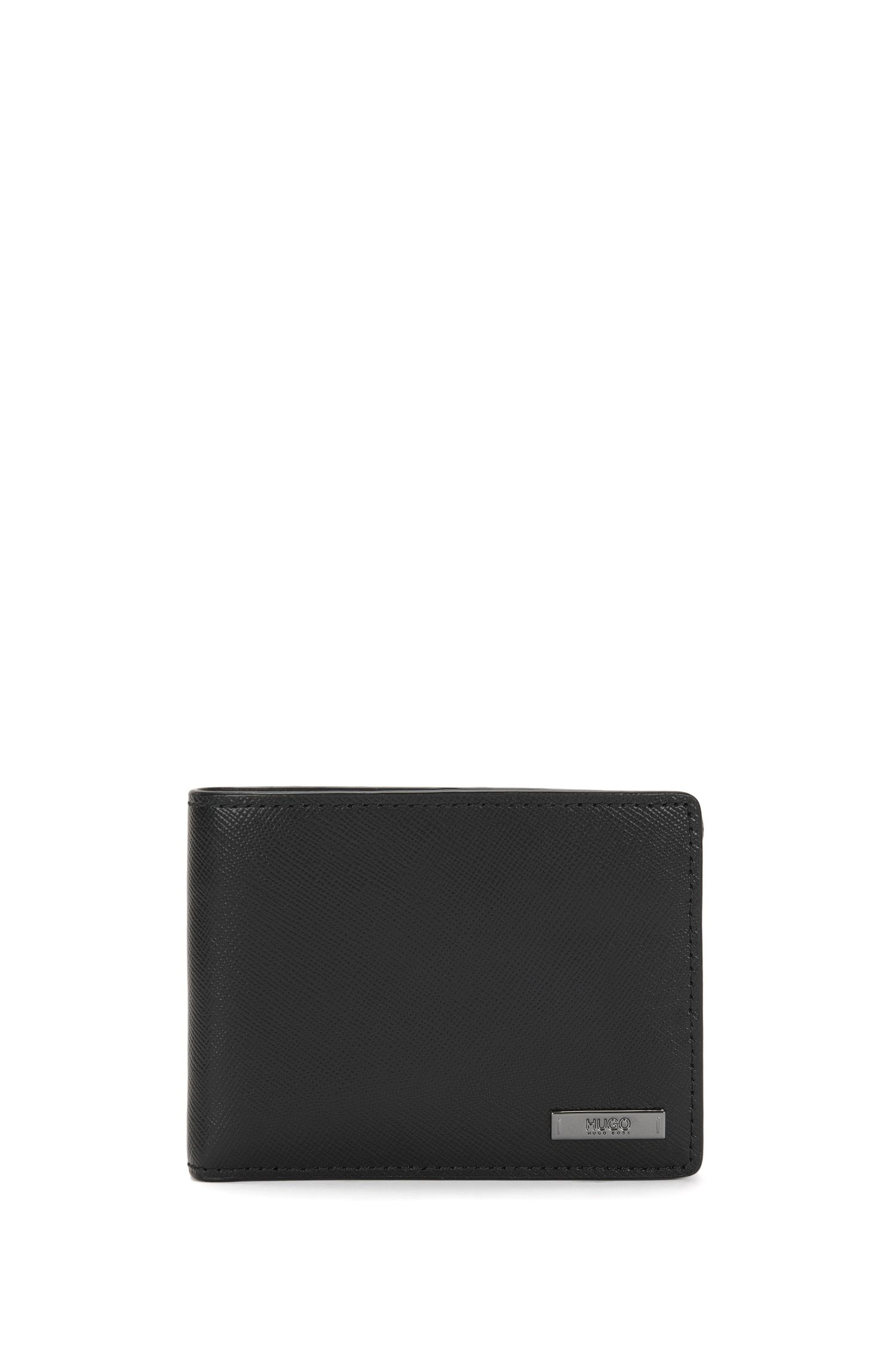 Small-format wallet in leather with Saffiano embossing: 'Digital_6 cc'