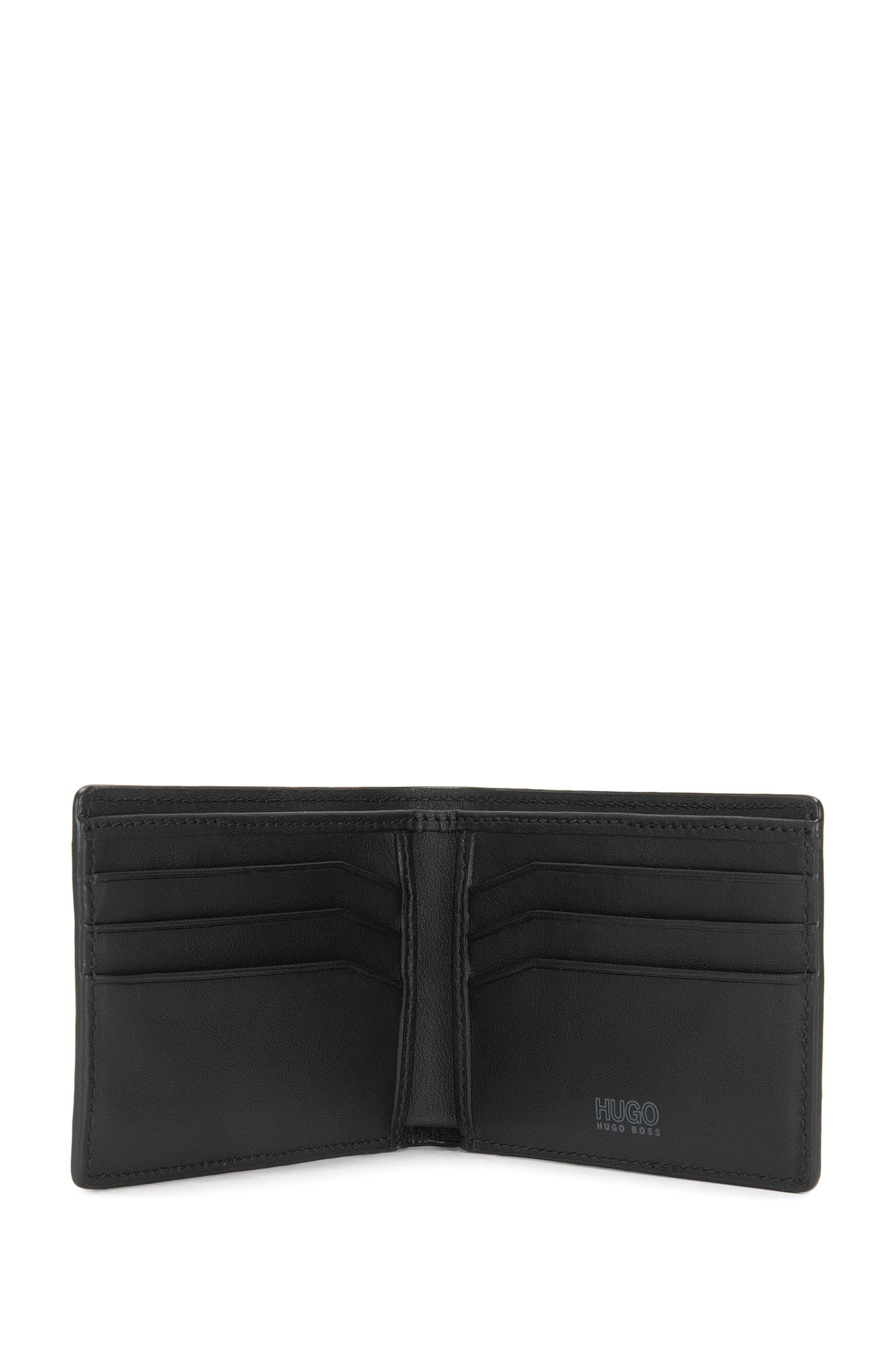 Kleinformatige Geldbörse aus Leder mit Saffiano-Prägung: 'Digital_6 cc'