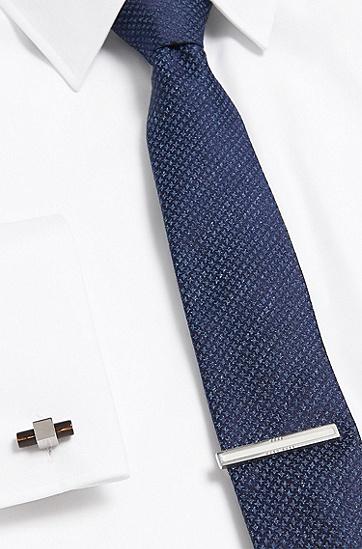 Krawattennadel aus Messing: 'TIM', Weiß
