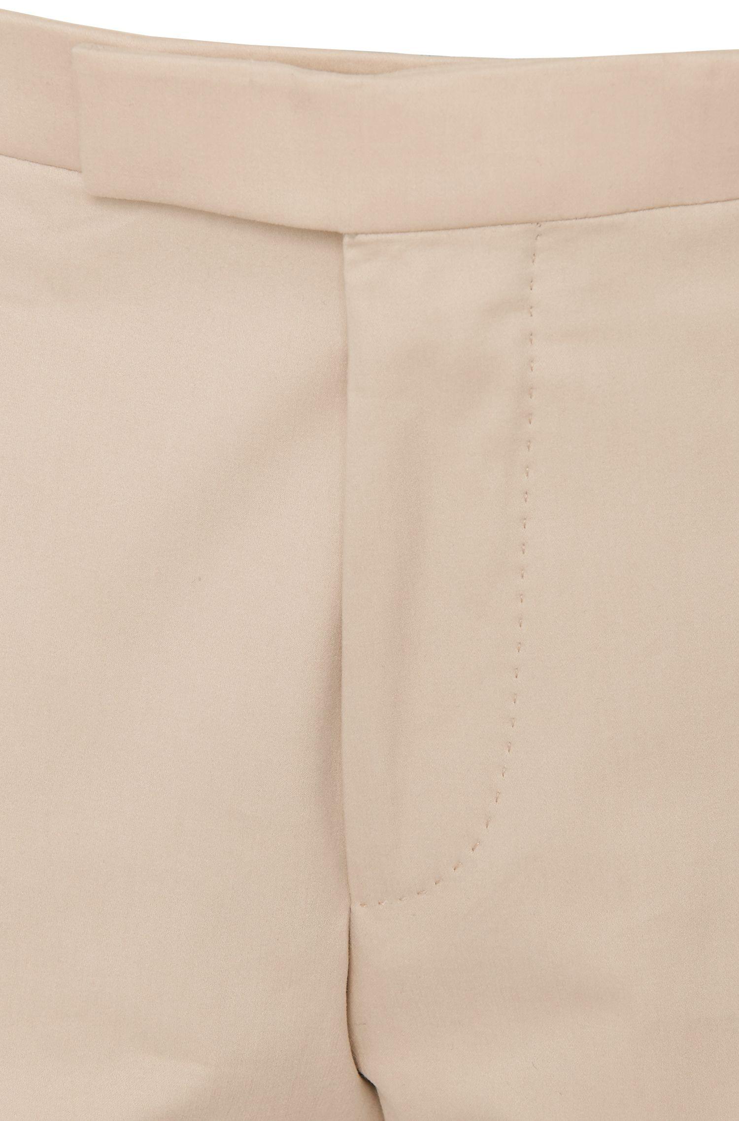 Unifarbene Regular-Fit Hose Stretch-Baumwolle: Leenon'