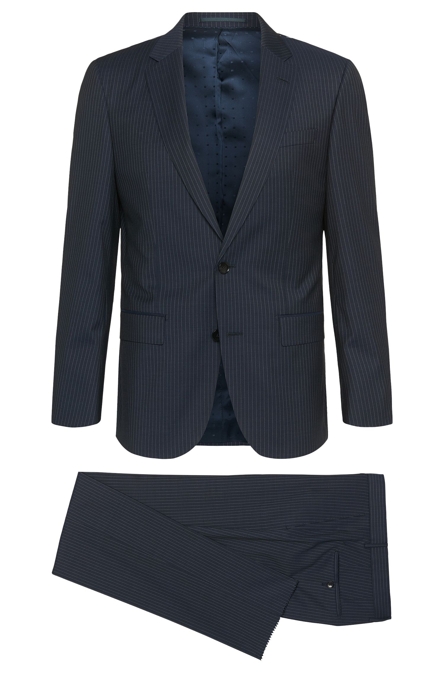 Slim-Fit Anzug aus Schurwoll-Mix mit Nadelstreifen: 'T-Harvers/Glover1'