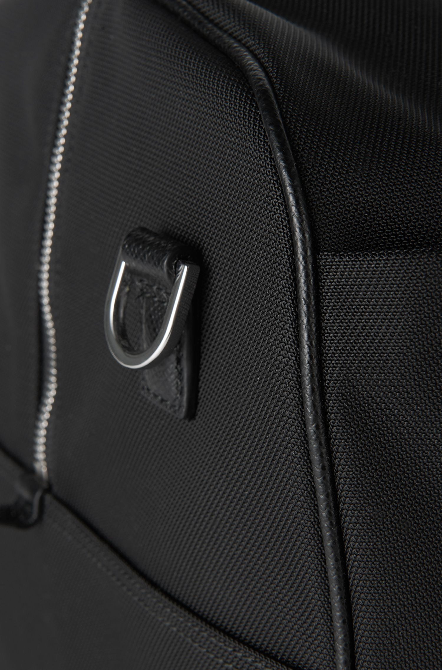 Weekender mit Leder-Details: 'Signature L_Hold'