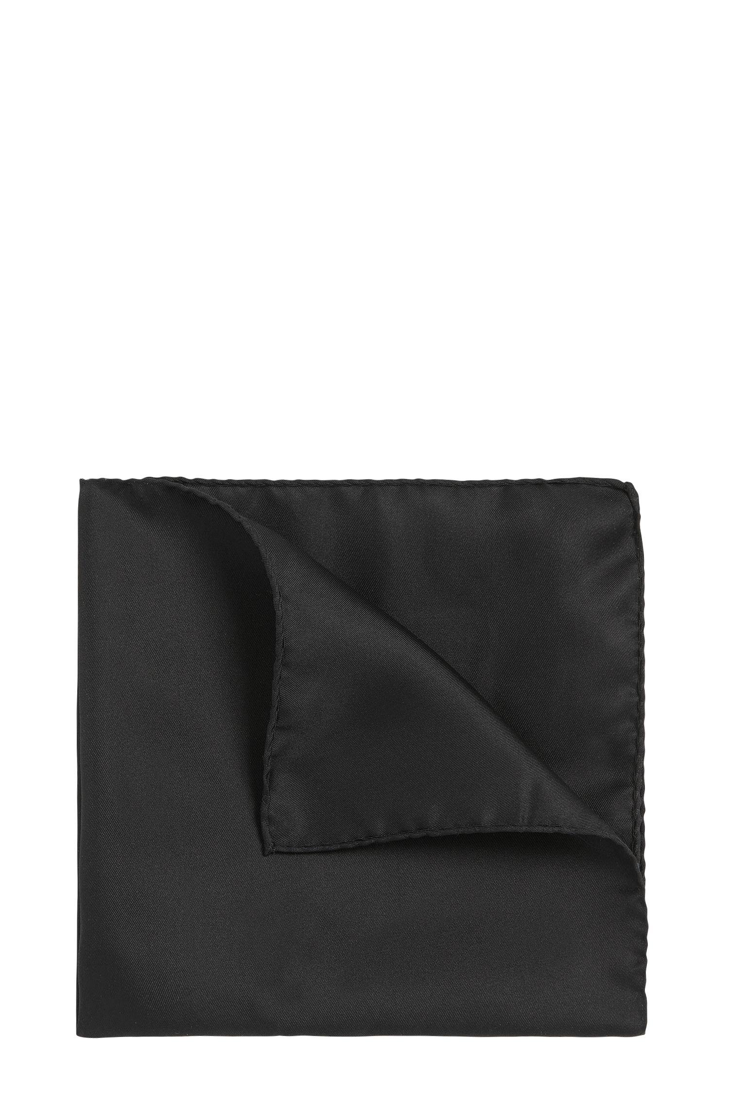 Plain pocket square in pure silk: 'Pocketsquare 33x33cm'