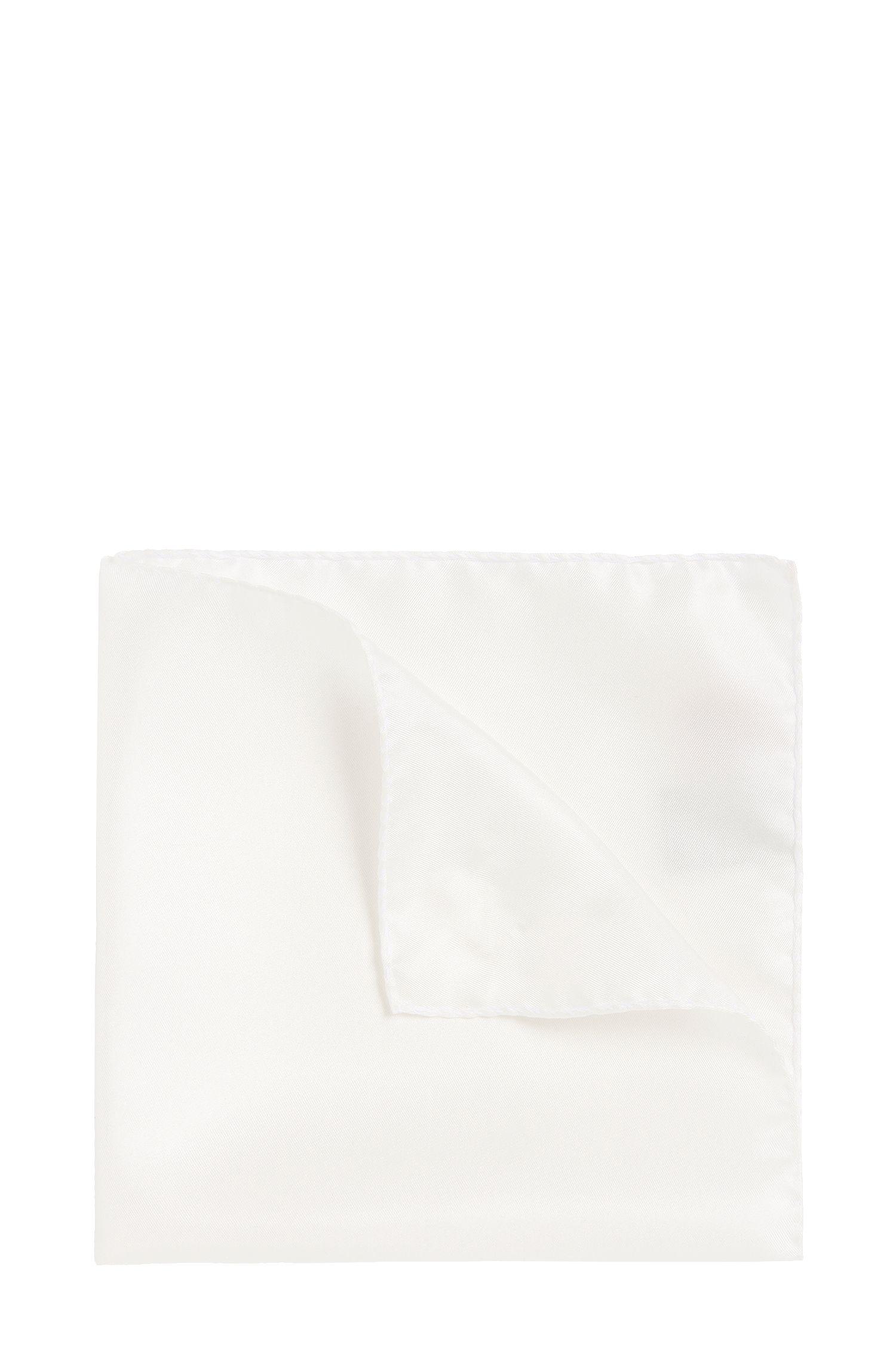 Unifarbenes Einstecktuch aus reiner Seide: 'Pocketsquare 33x33cm'