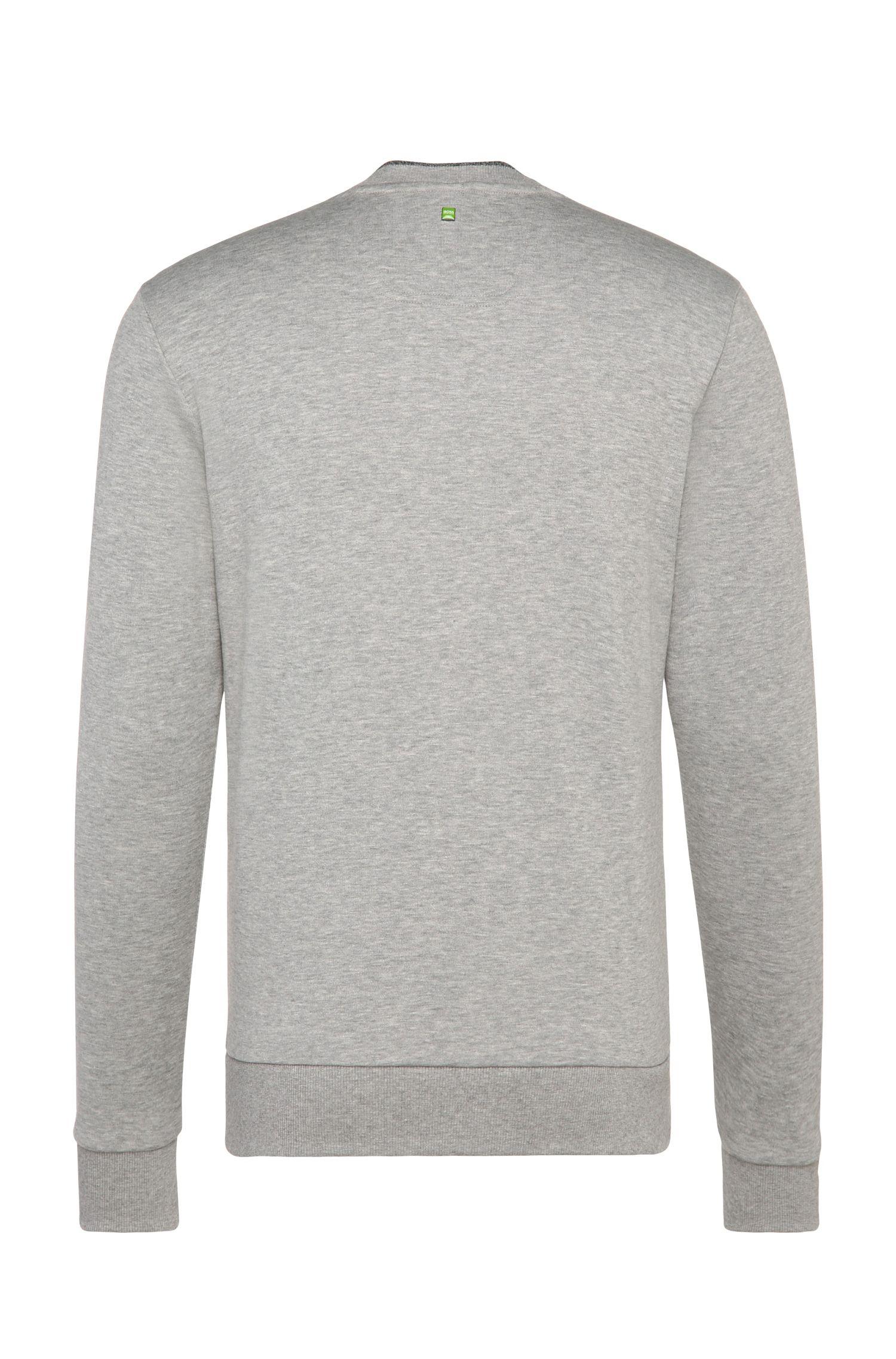 Slim-fit sweatshirt van een katoenmix met logoprint: 'Salbo'