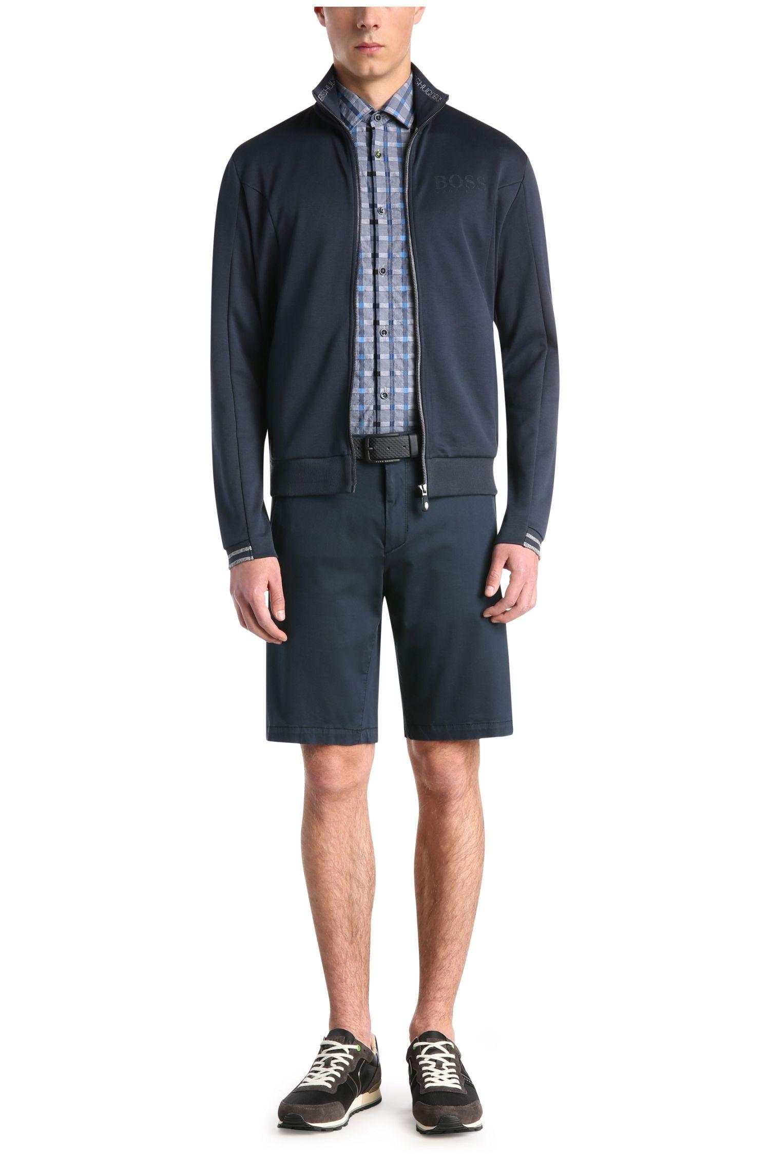 Melierte Sweatshirt-Jacke aus Baumwoll-Mix: ´Skaz`