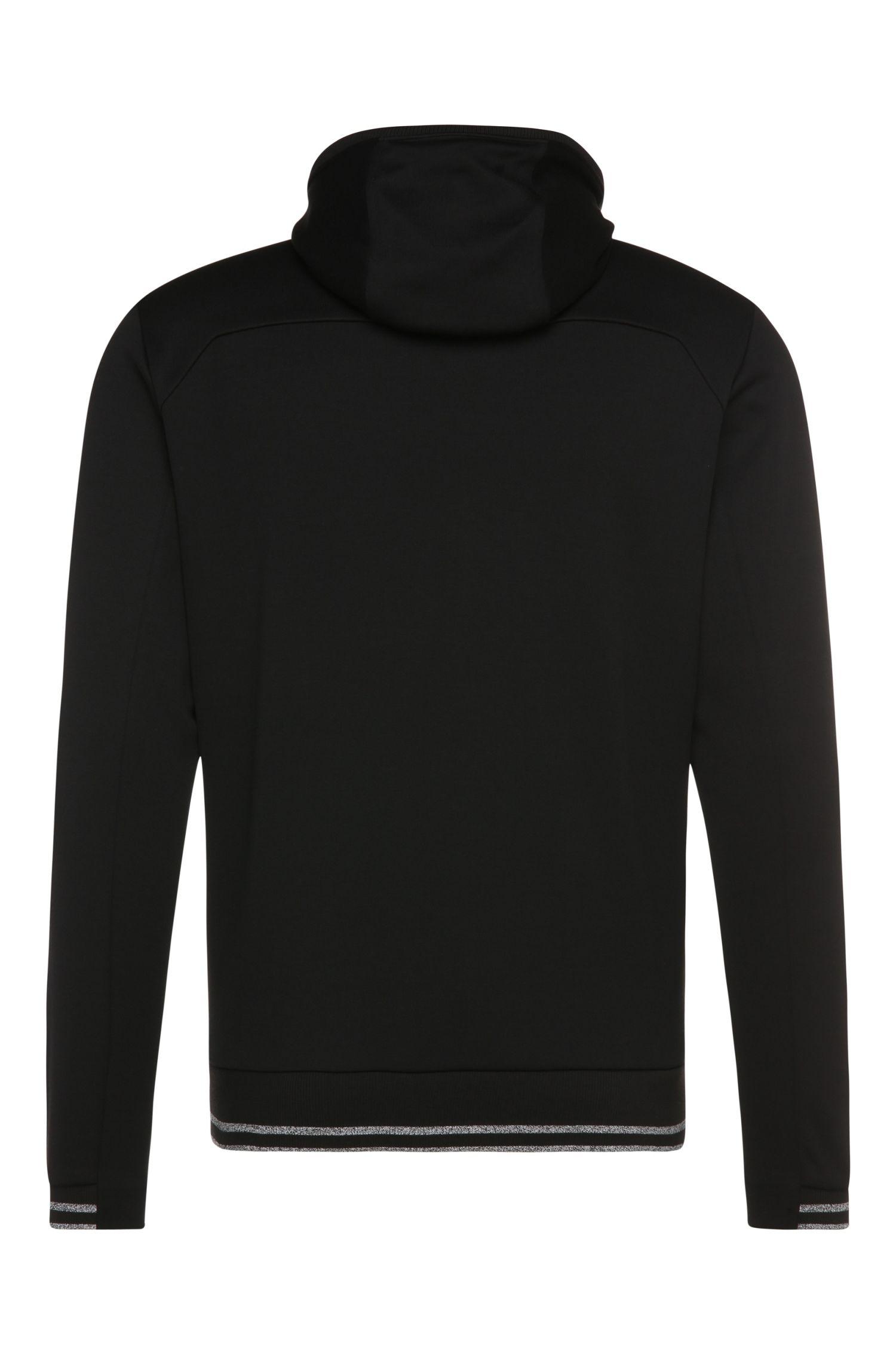 Sweatshirt-Jacke aus Baumwoll-Mix mit Kapuze: ´Saggy`