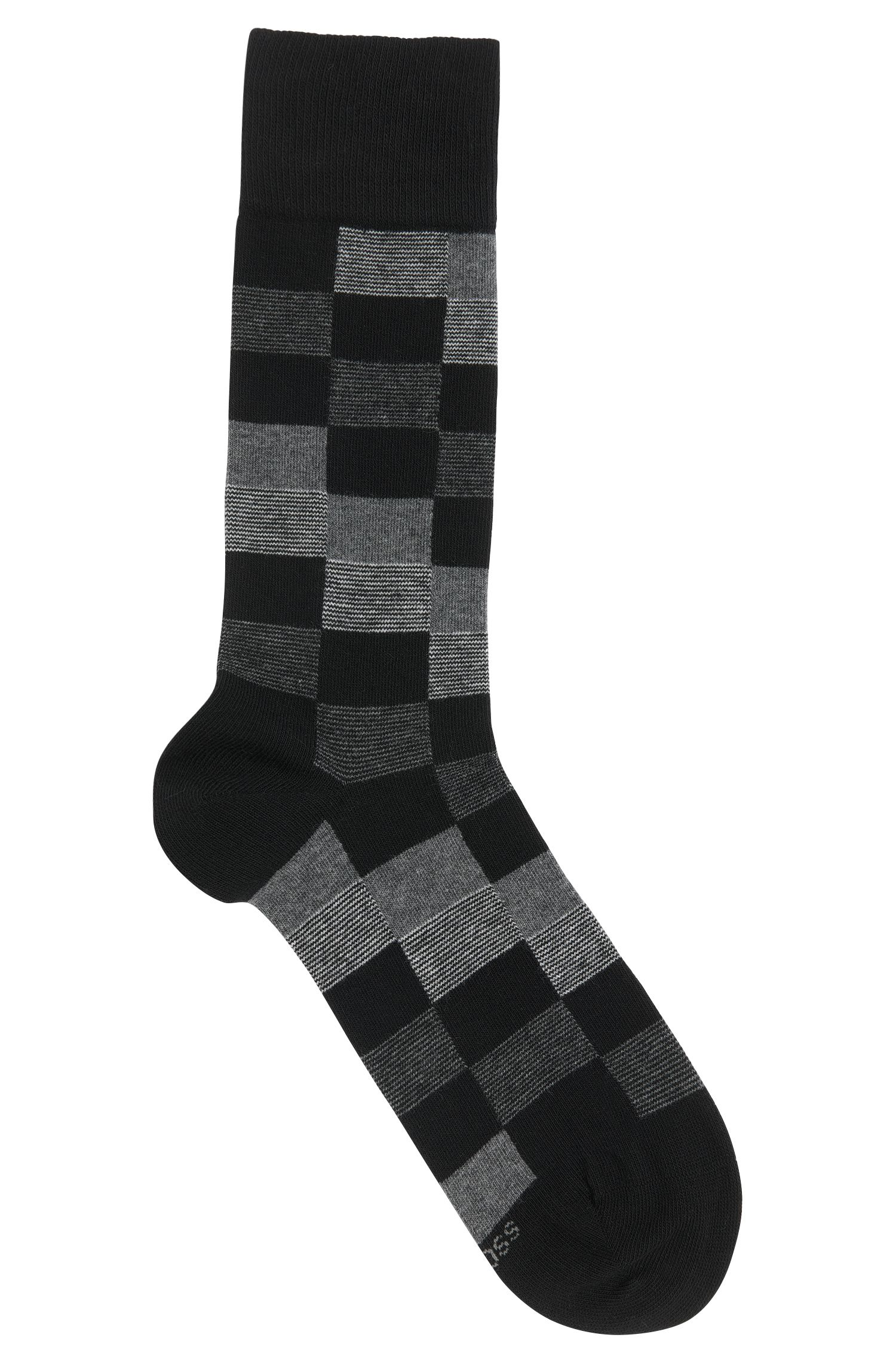 Patterned cotton-blend socks: 'RS Design'