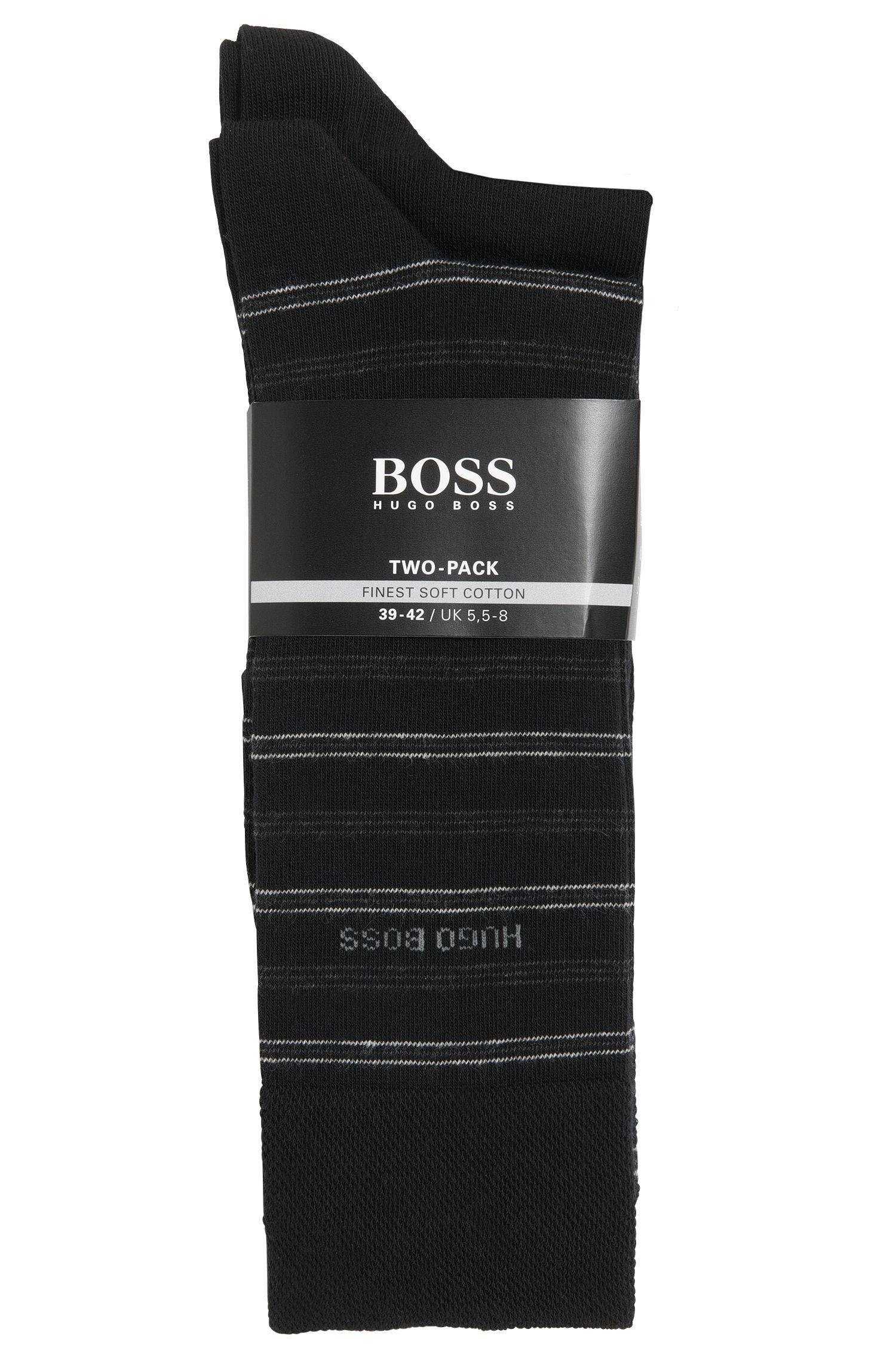 Socken mit Streifen aus Baumwoll-Mix im 2er-Pack: 'Twopack RS Design'