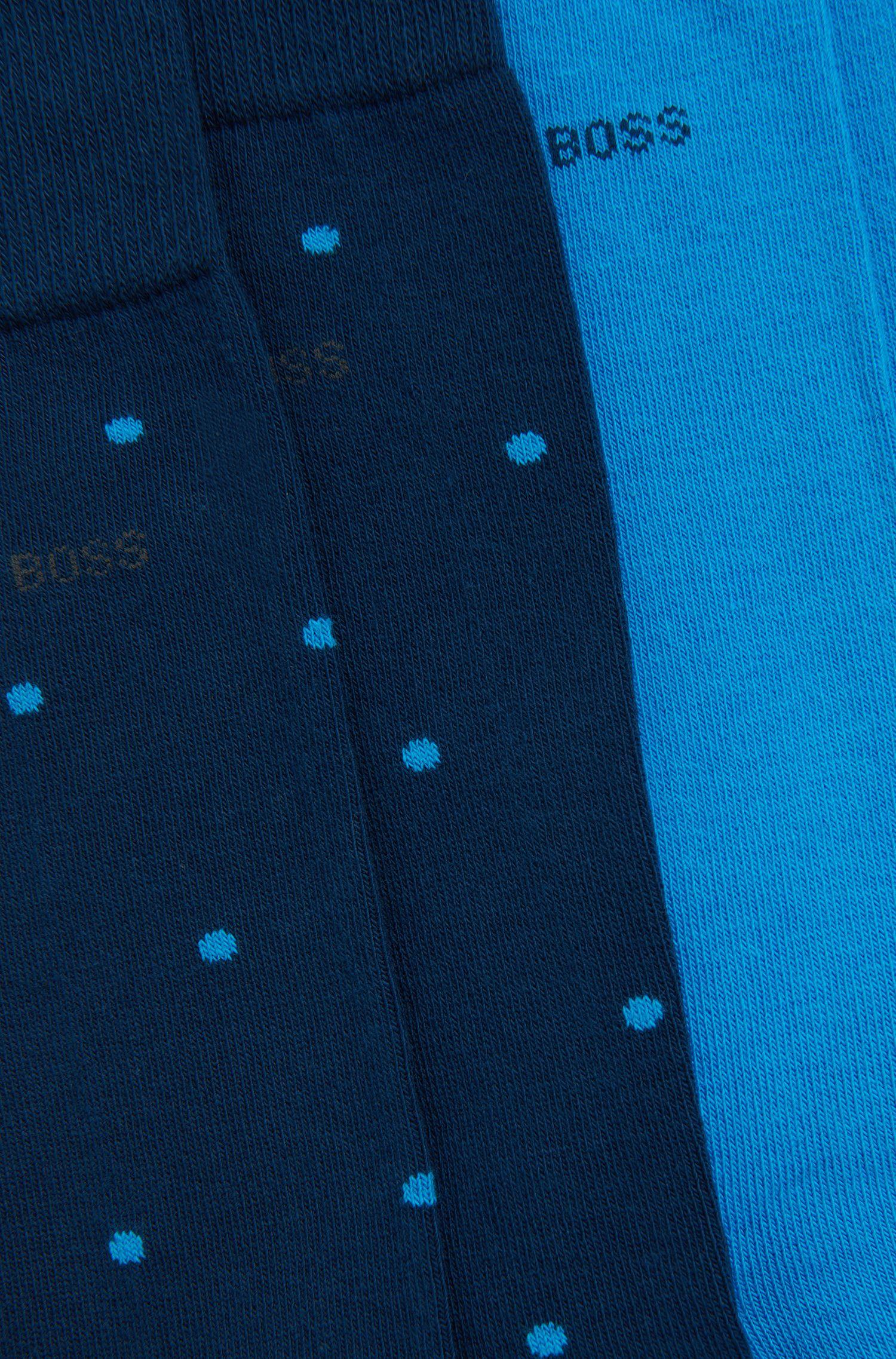 Set van 2 paar gestippelde sokken van een katoenmix: 'Twopack RS Design'