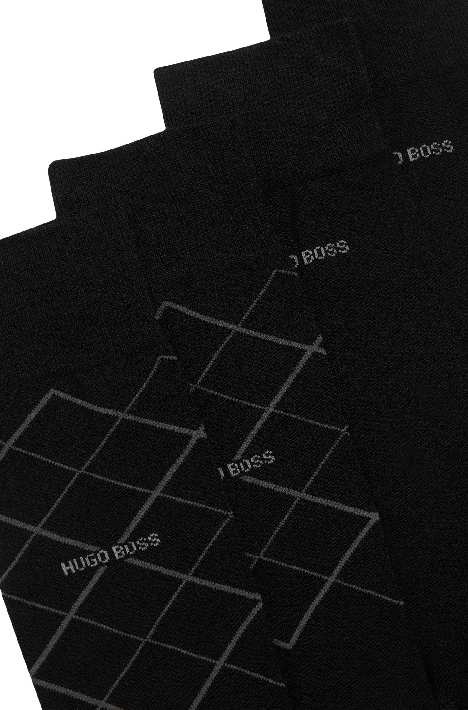 Set van 2 paar sokken van een katoenmix: 'Twopack RS Design'