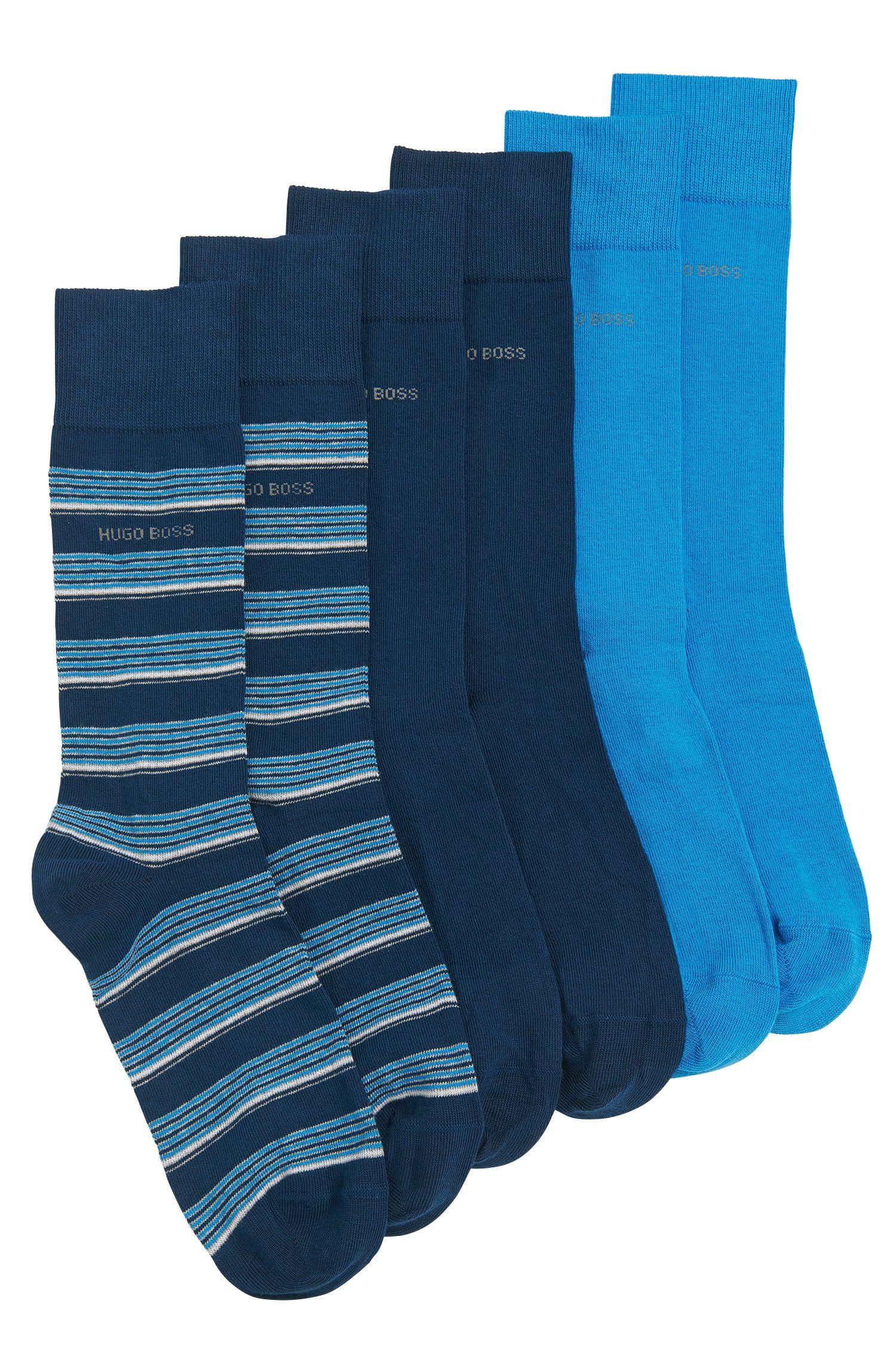Socken aus Baumwoll-Mix im Dreier-Pack: 'S 3P Design Box'