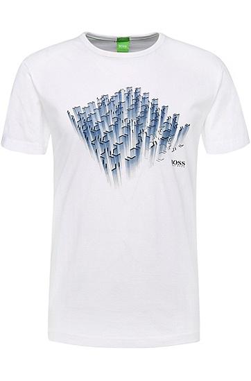 Bedrucktes Regular-Fit T-Shirt aus Single Jersey: ´Tee 3`, Weiß