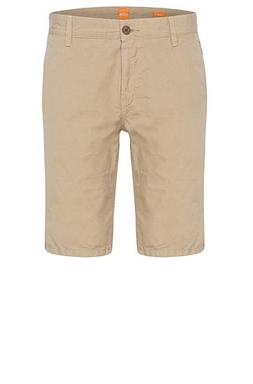 Slim-Fit Shorts aus reiner Baumwolle: ´Sairy-Shorts-D-EOSP`, Hellbraun