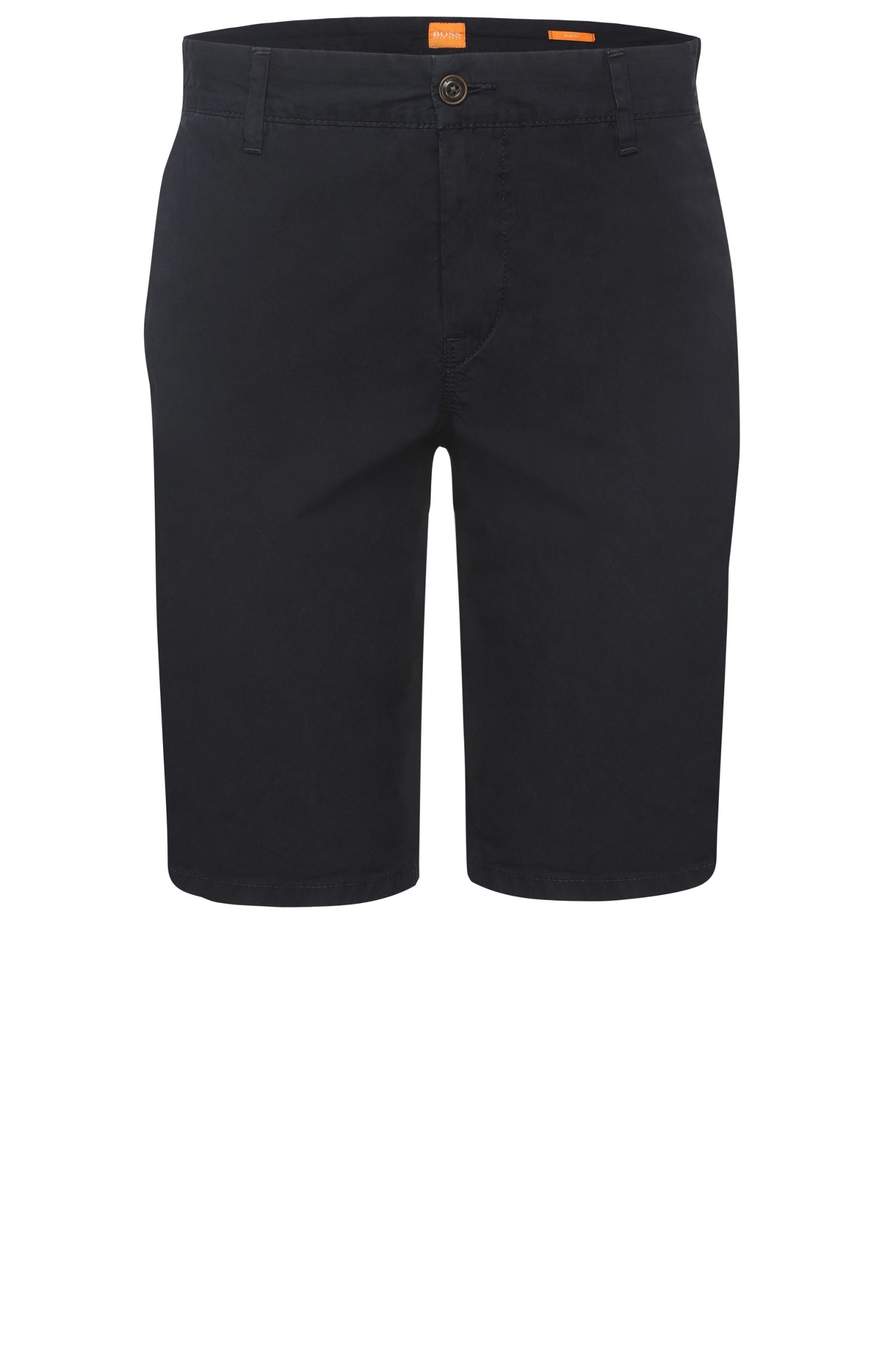 Slim-fit shorts in pure cotton: 'Sairy-Shorts-D-EOSP'