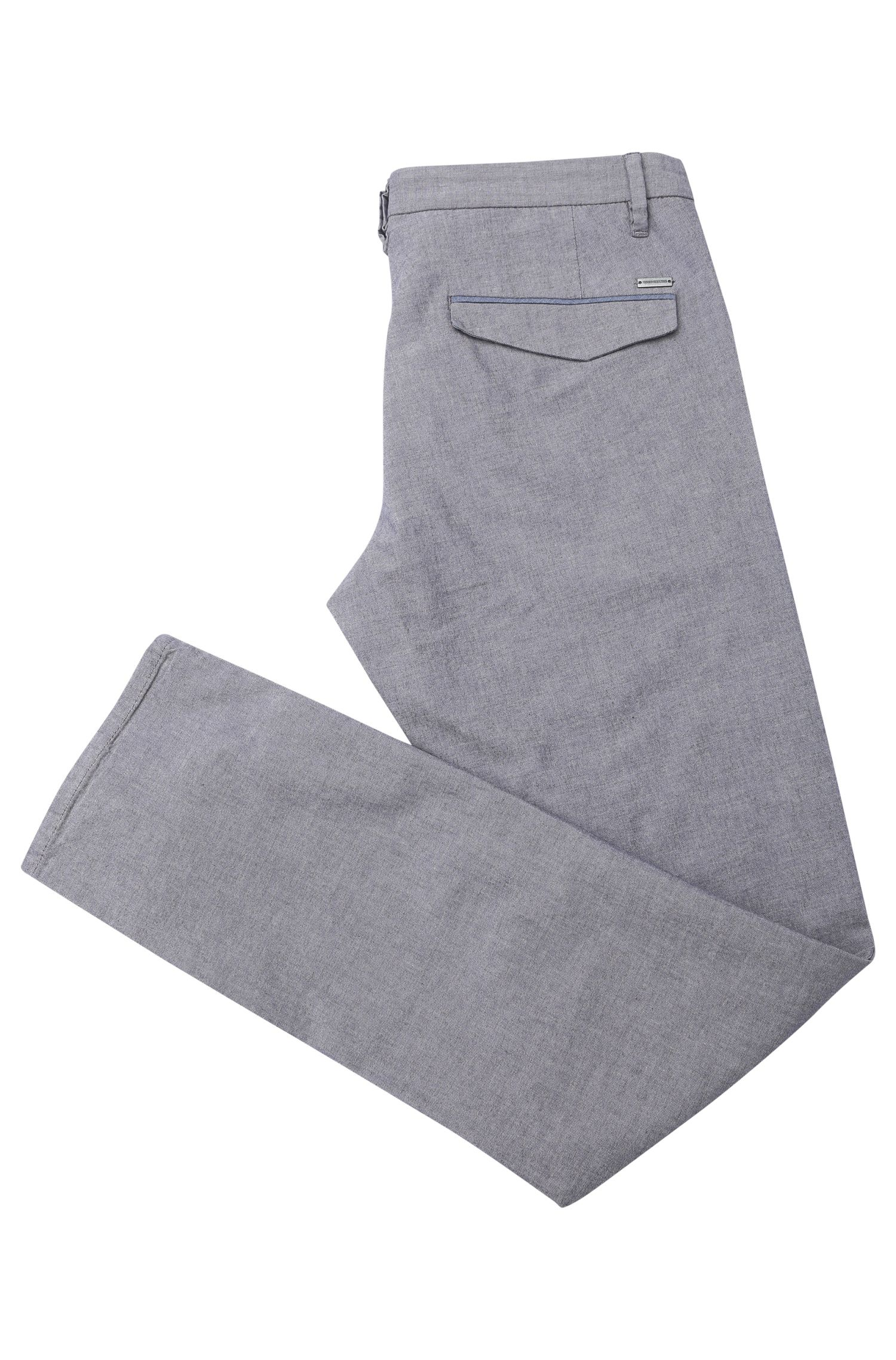 Slim-Fit Chino aus elastischer Baumwolle in melierter Optik: ´Schino-Slim3-W`