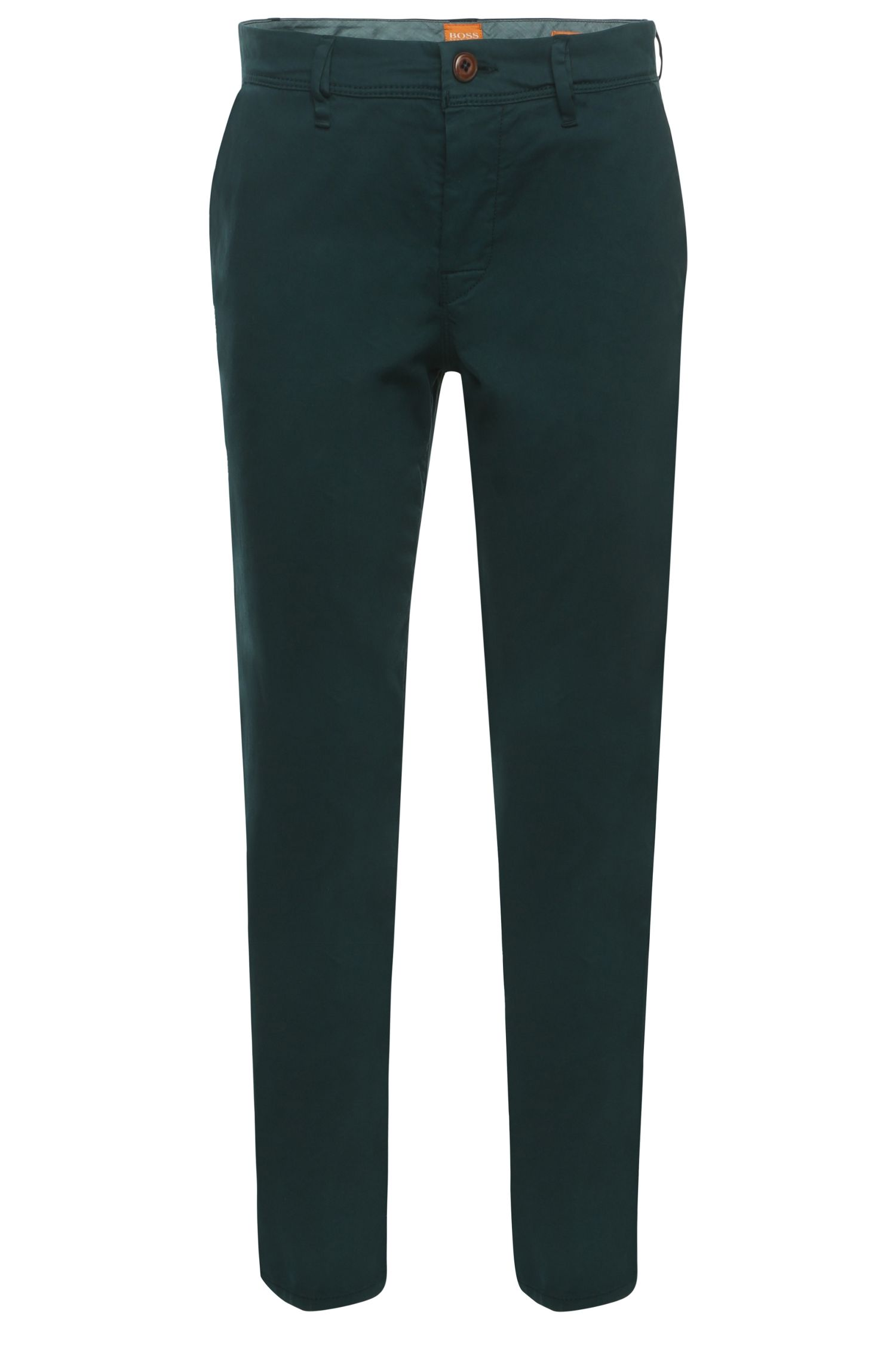Tapered-fit chino in overdyed-look: 'Schino-Tapered-D'