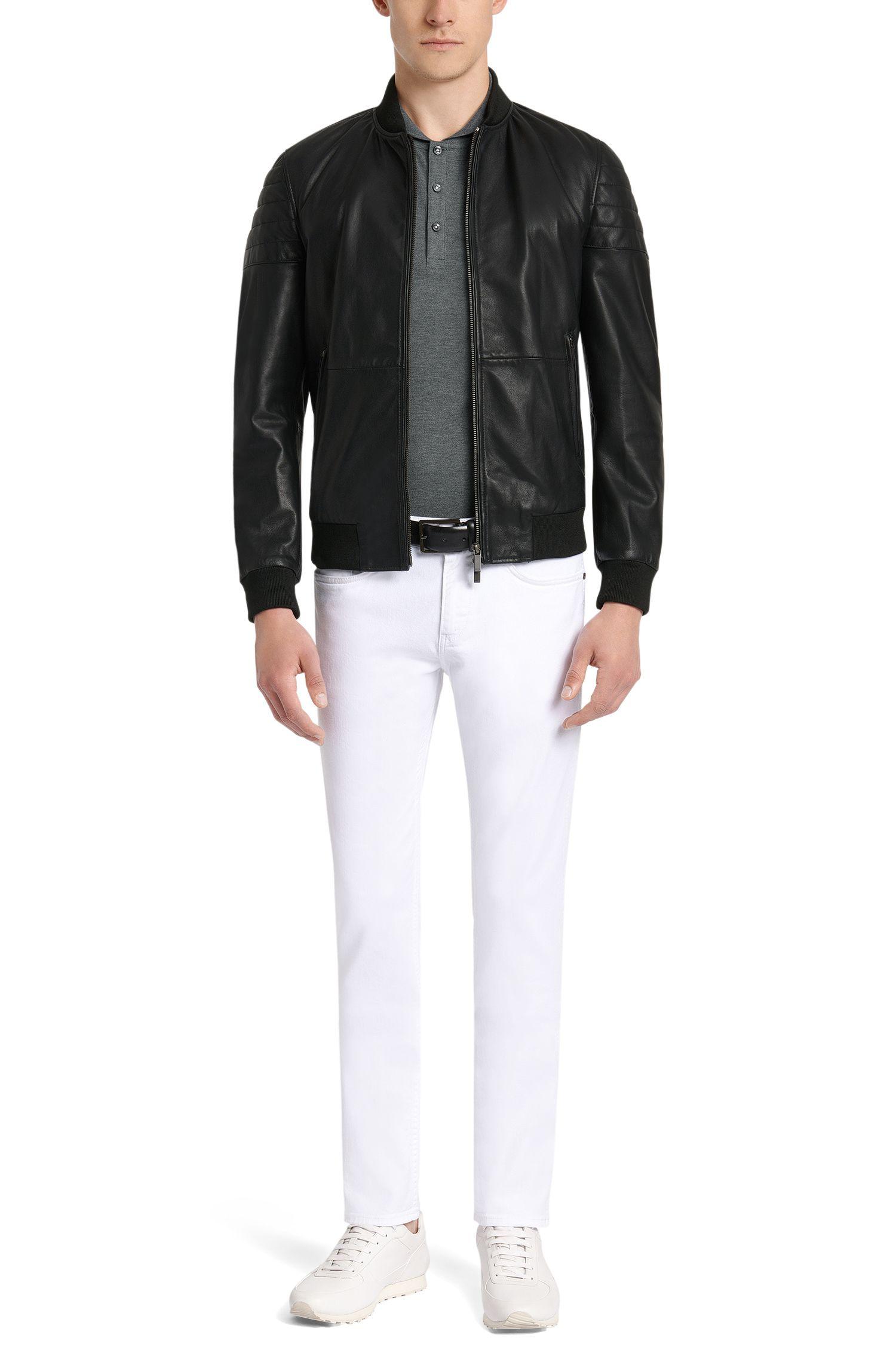 Slim-Fit Poloshirt aus Baumwolle mit abgerundetem Kragen: 'Pacelli 01'