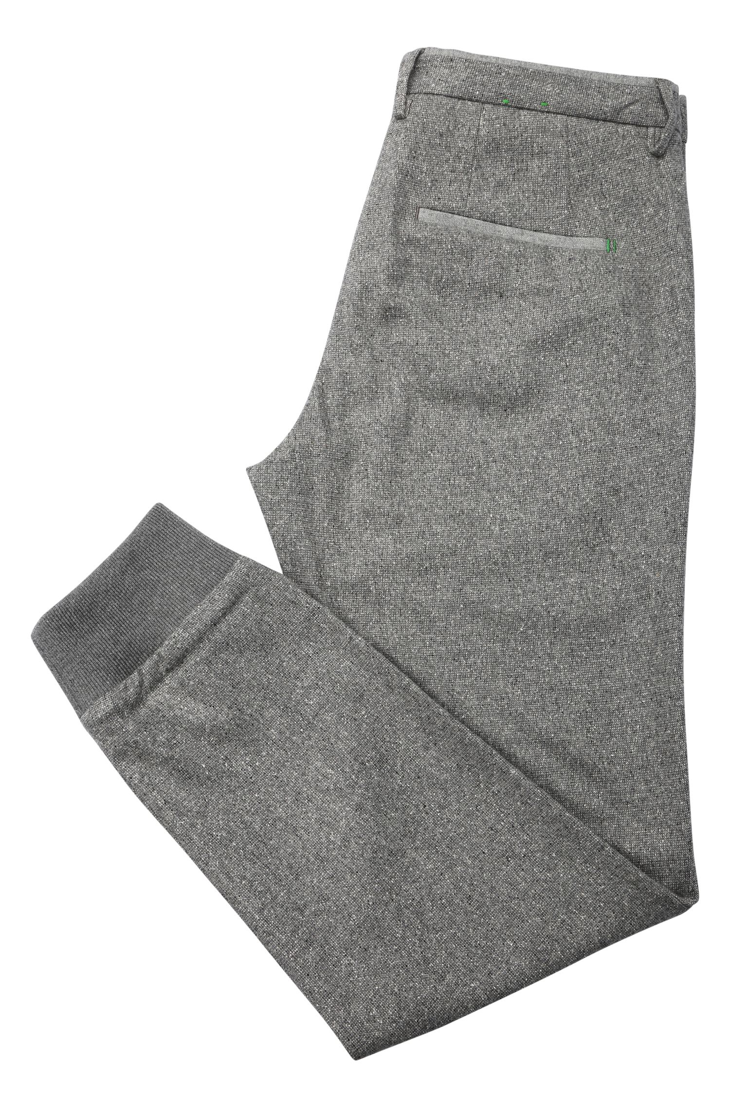 Pantalon Tapered Slim Fit en laine vierge mélangée extensible: «Loomes-W»