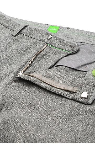 Tapered-Slim-Fit Hose aus elastischem Schurwoll-Mix: ´Loomes-W`, Hellgrau