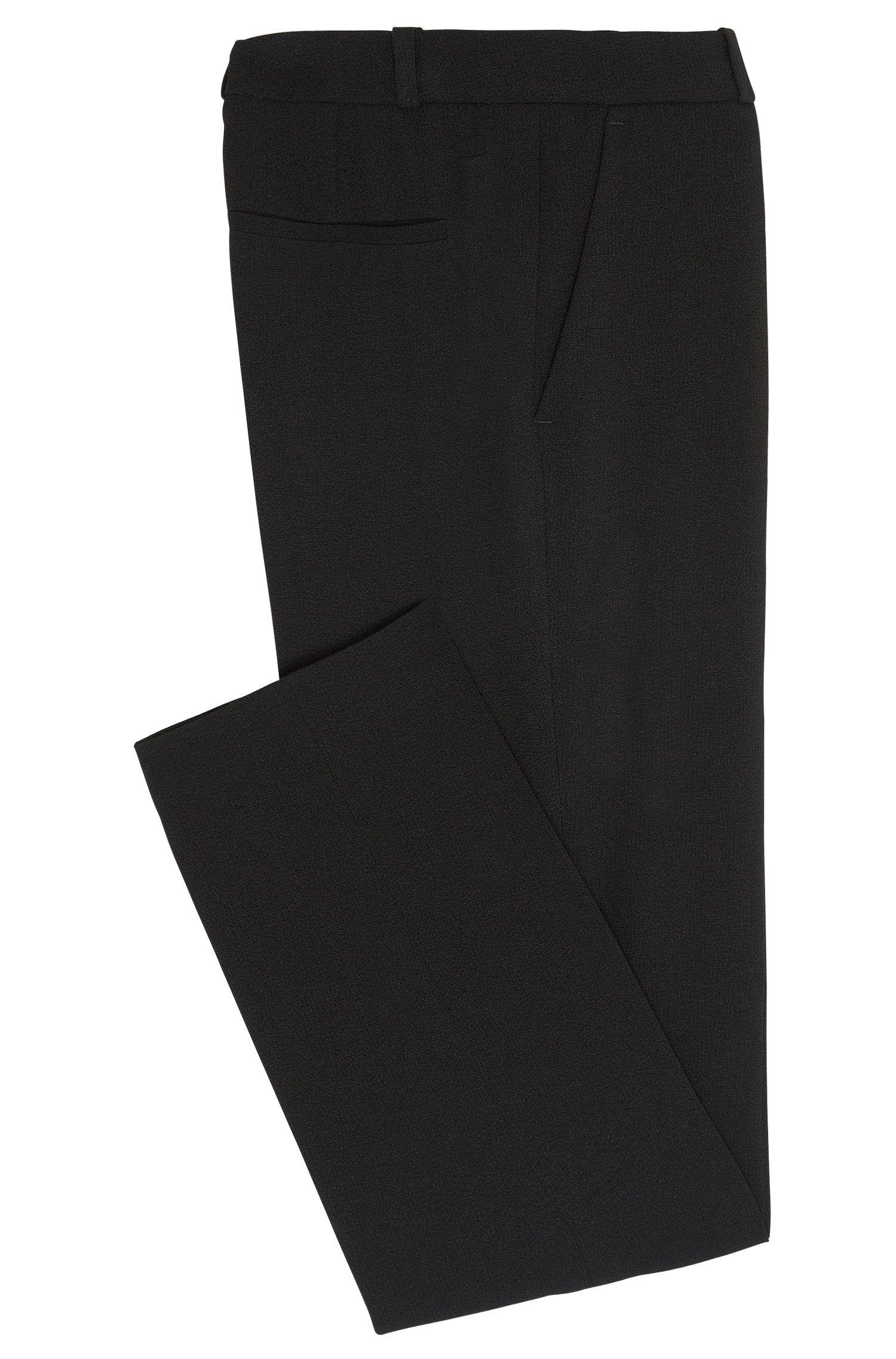 Cropped-Hose aus strukturiertem Gewebe: 'Tobela1'