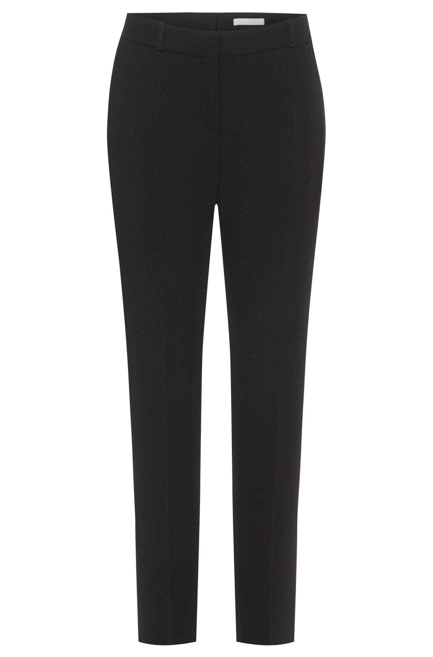 Cropped trousers in textured fabric: 'Tobela1'