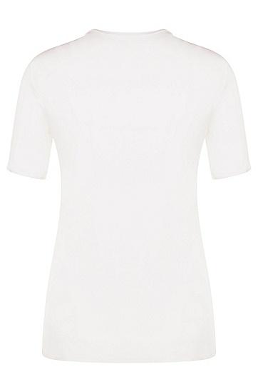 Standard-Fit Bluse aus Stretch-Seide: 'Bilinka', Natur